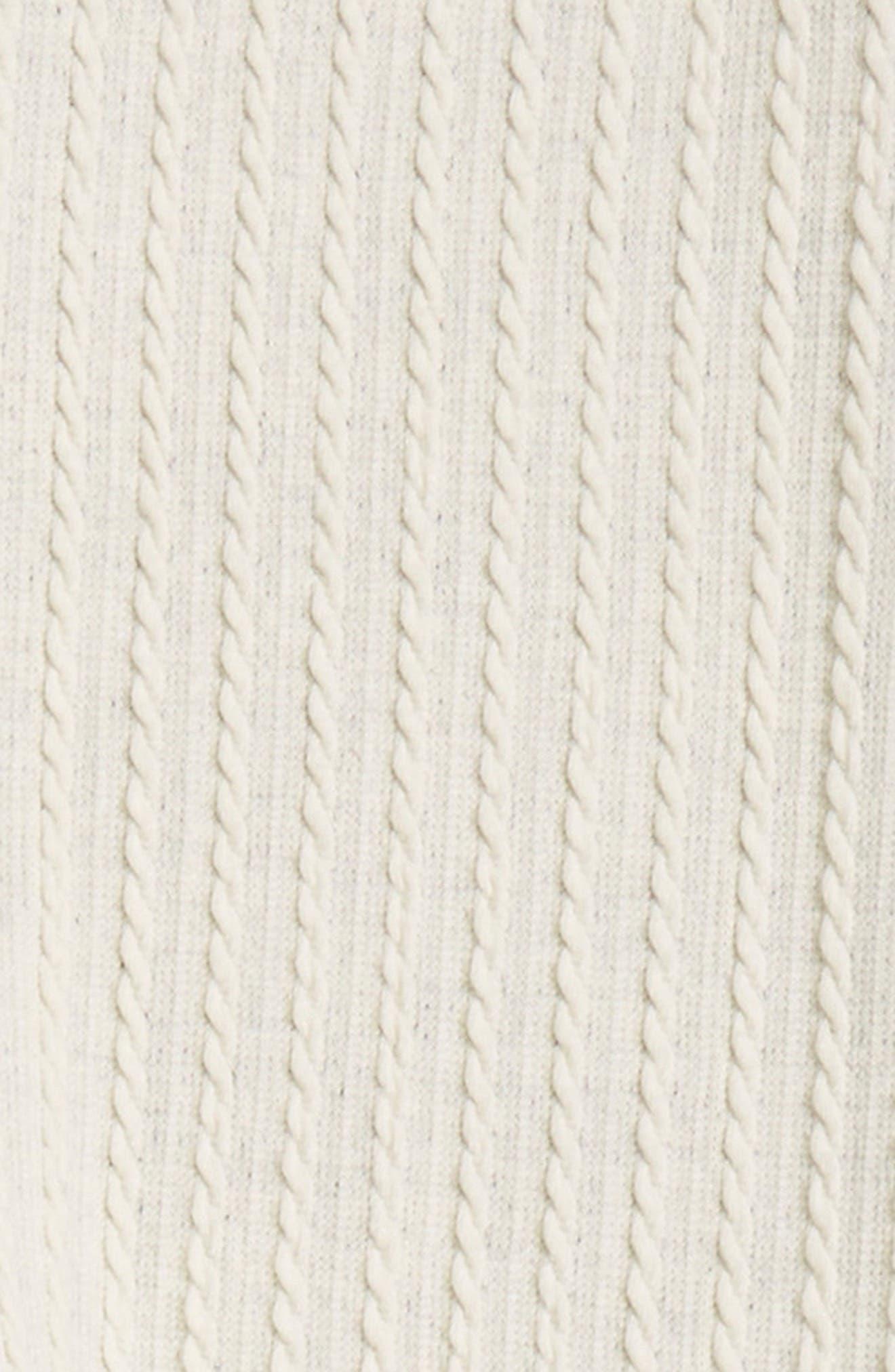 Cable Knit Leggings,                             Alternate thumbnail 2, color,                             Ivory Egret