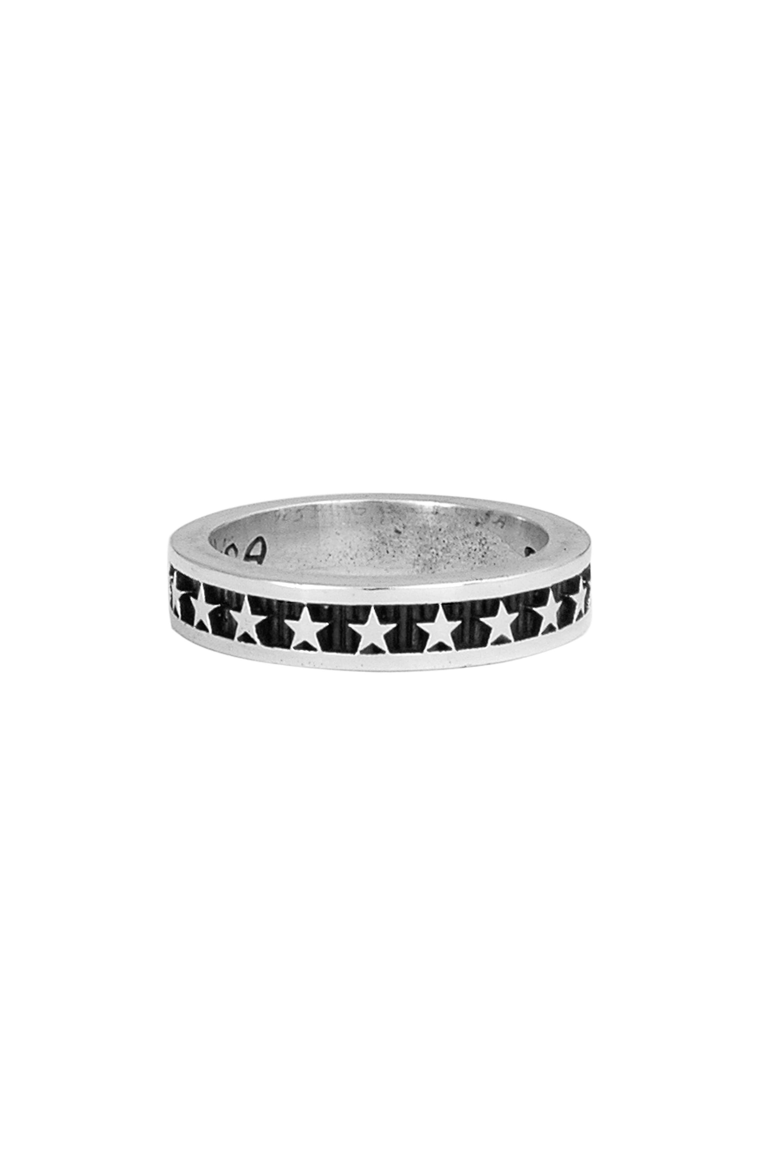 Stackable Star Ring,                             Main thumbnail 1, color,                             Silver