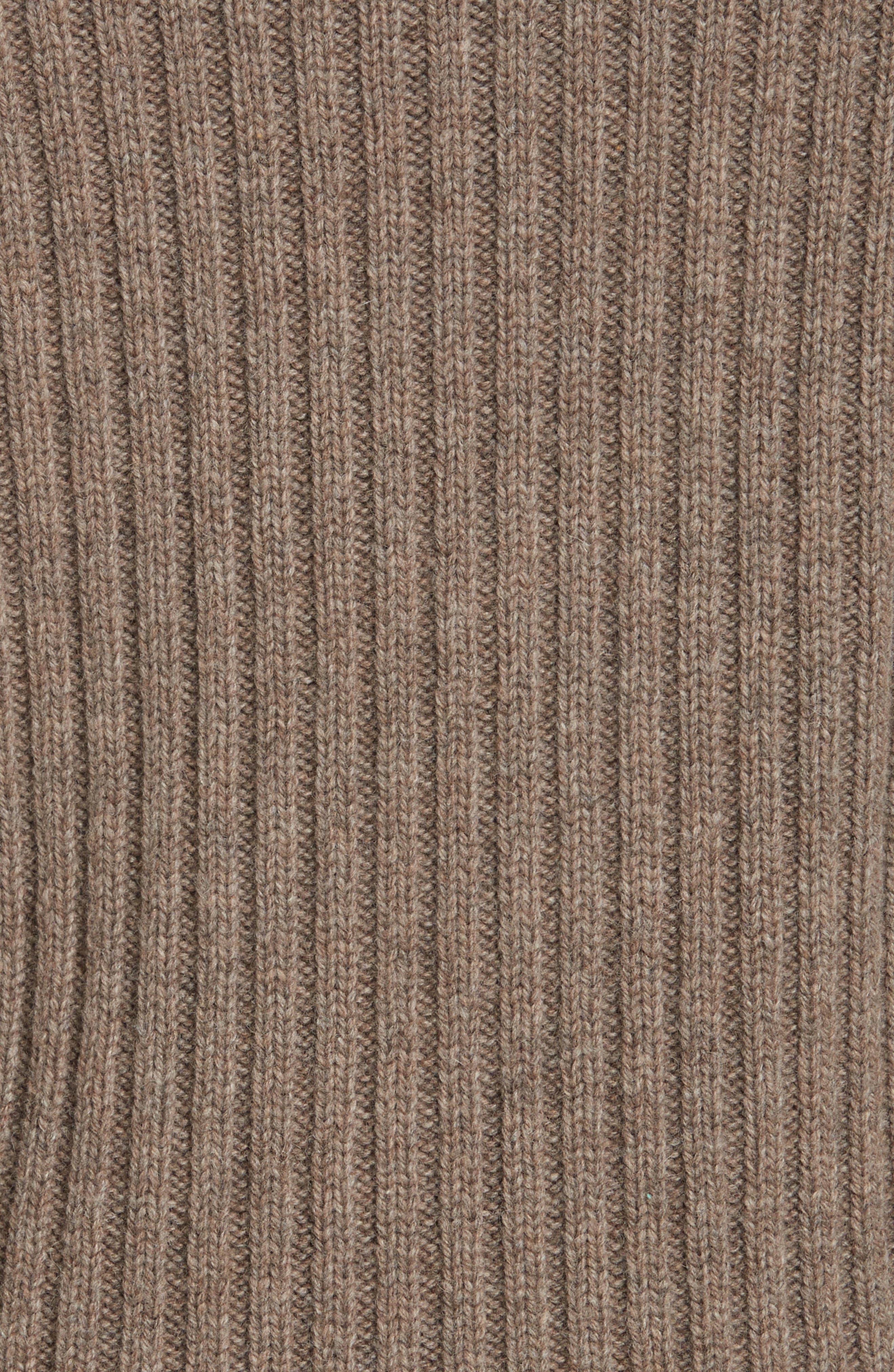High-Neck Military Sweater,                             Alternate thumbnail 5, color,                             Taupe
