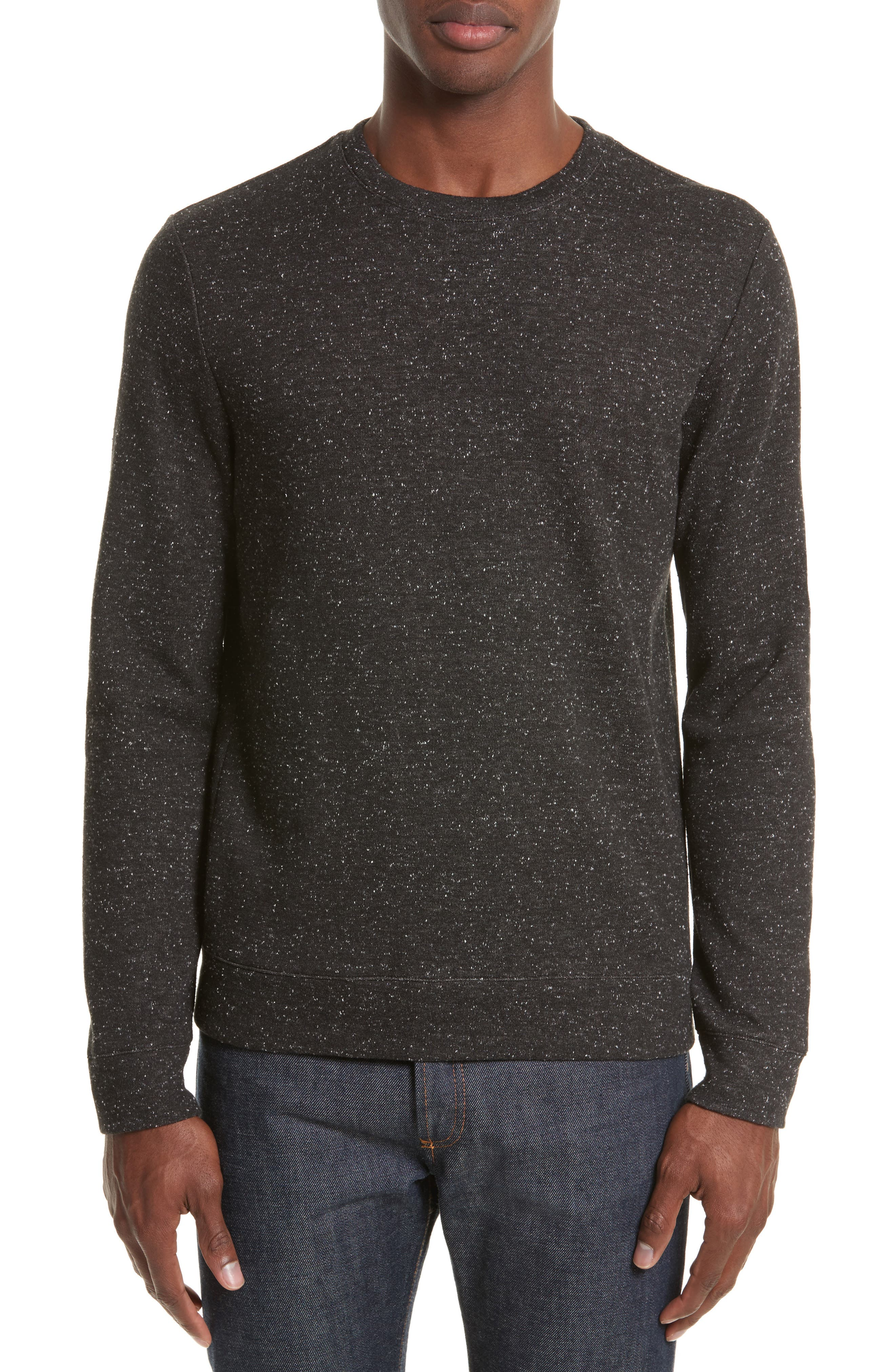 Main Image - A.P.C. Speckle Sweat Track Sweater