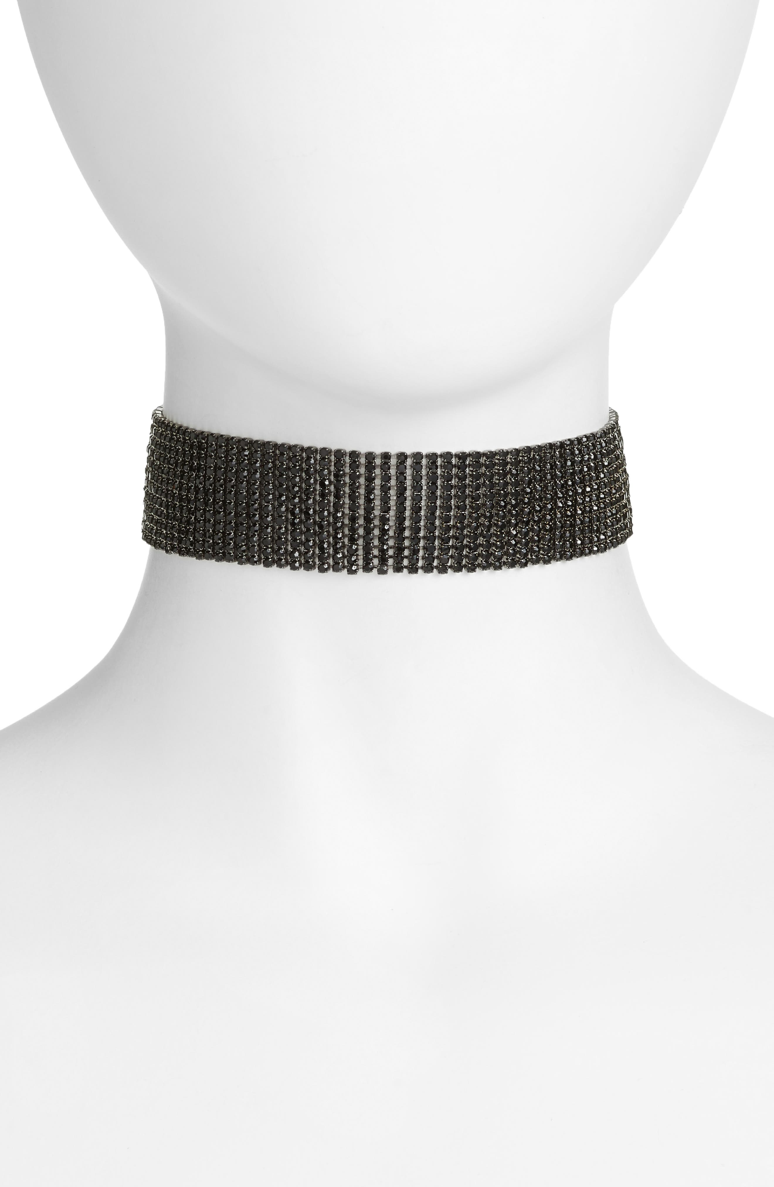CRISTABELLE Crystal Multirow Choker
