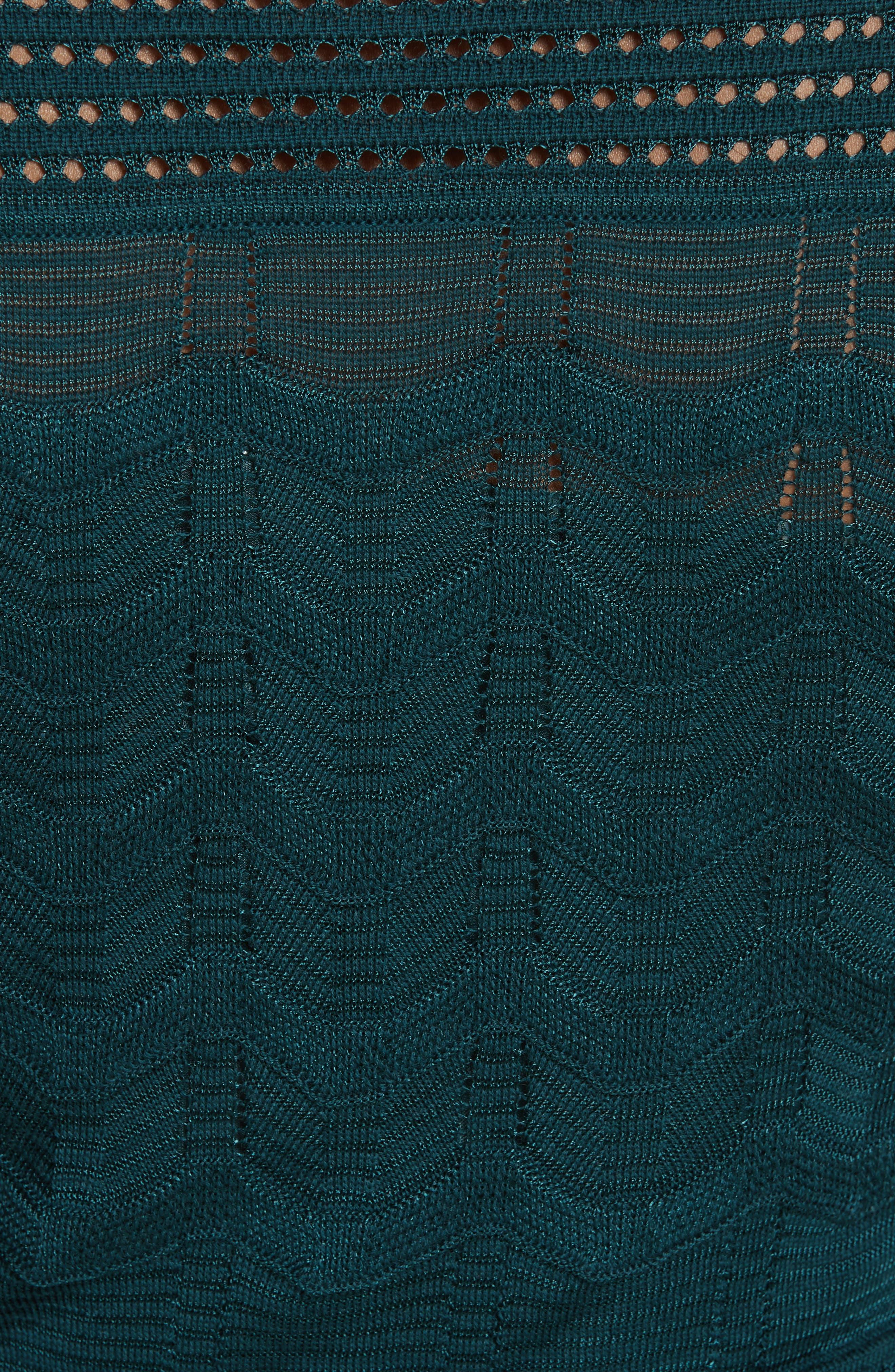 Alternate Image 4  - M Missoni Mesh Detail A-Line Dress