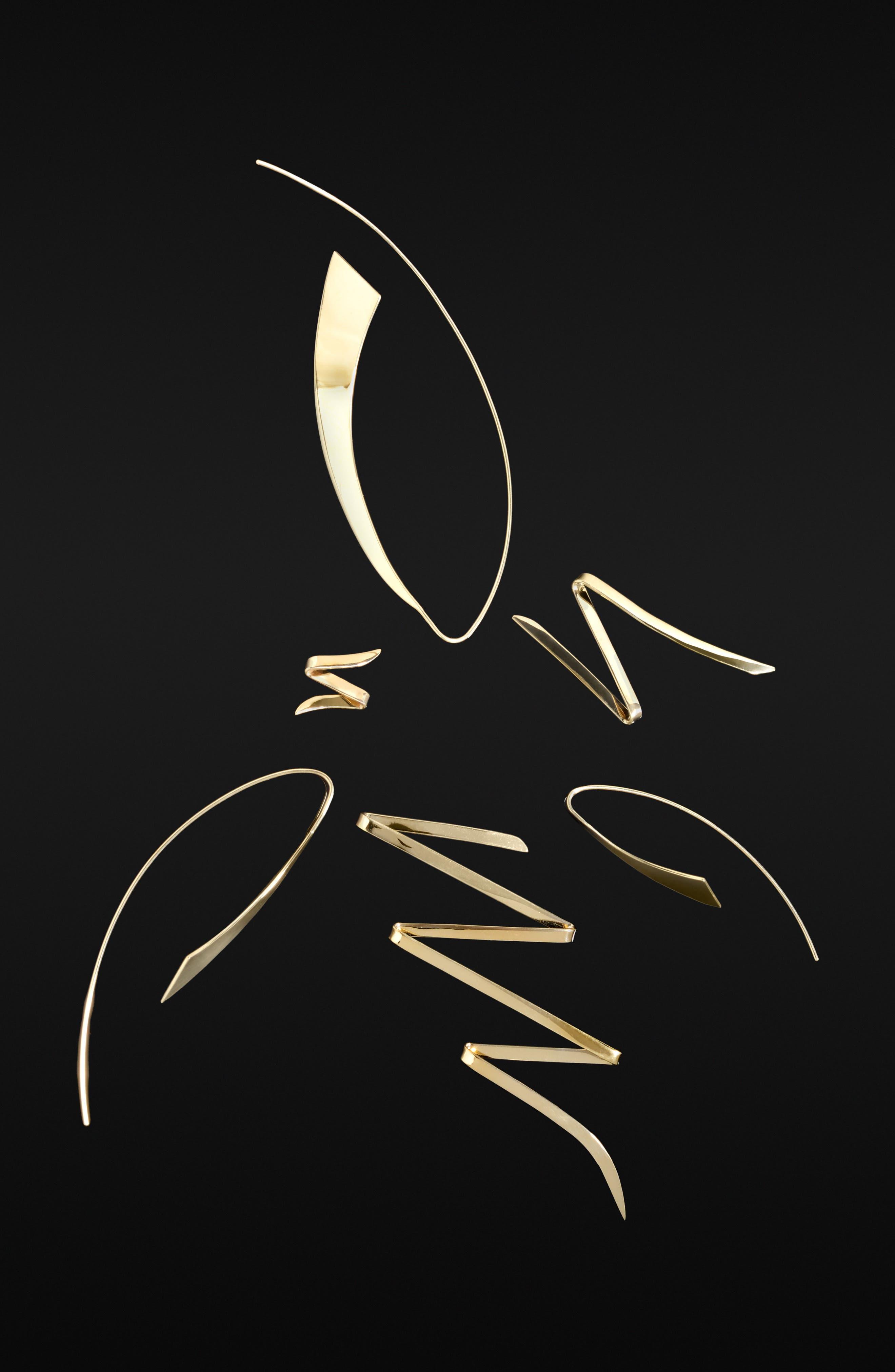 'Mini Bold' Stud Earrings,                             Alternate thumbnail 2, color,                             Yellow Gold
