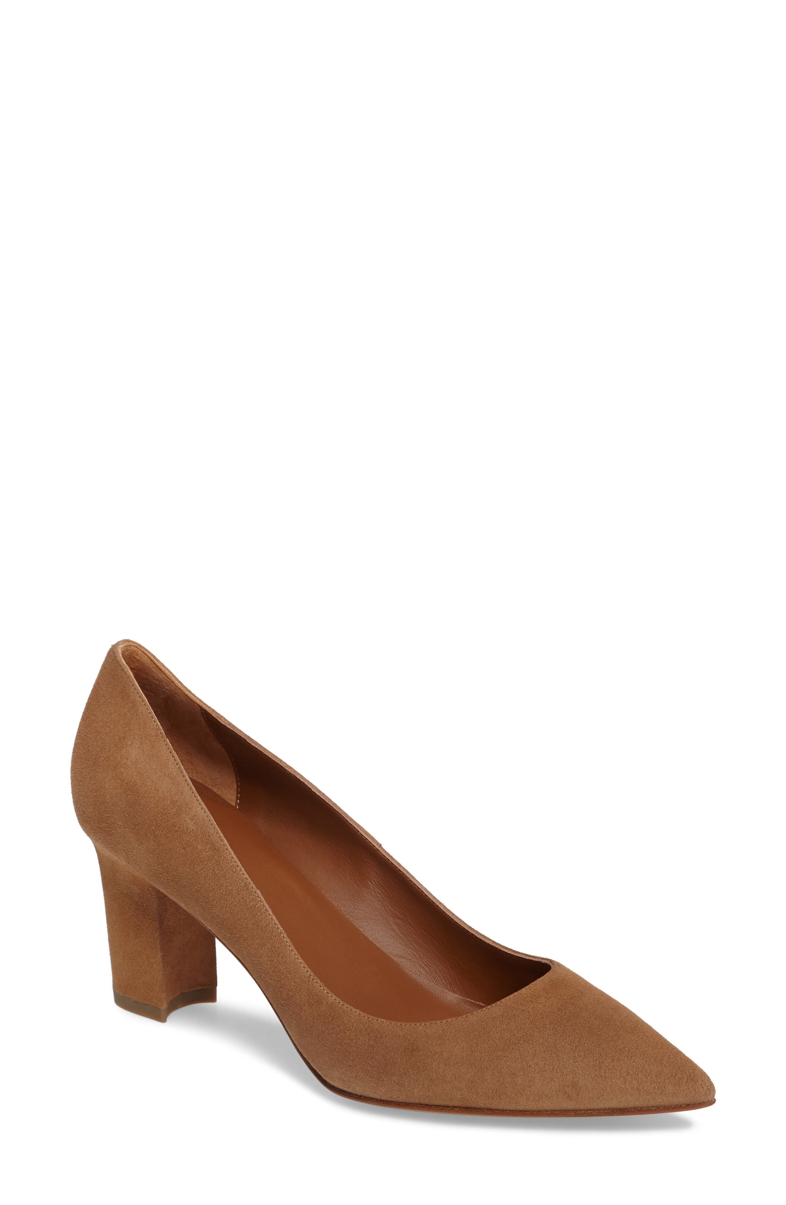 Michaela Weatherproof Pump,                         Main,                         color, Sand Suede