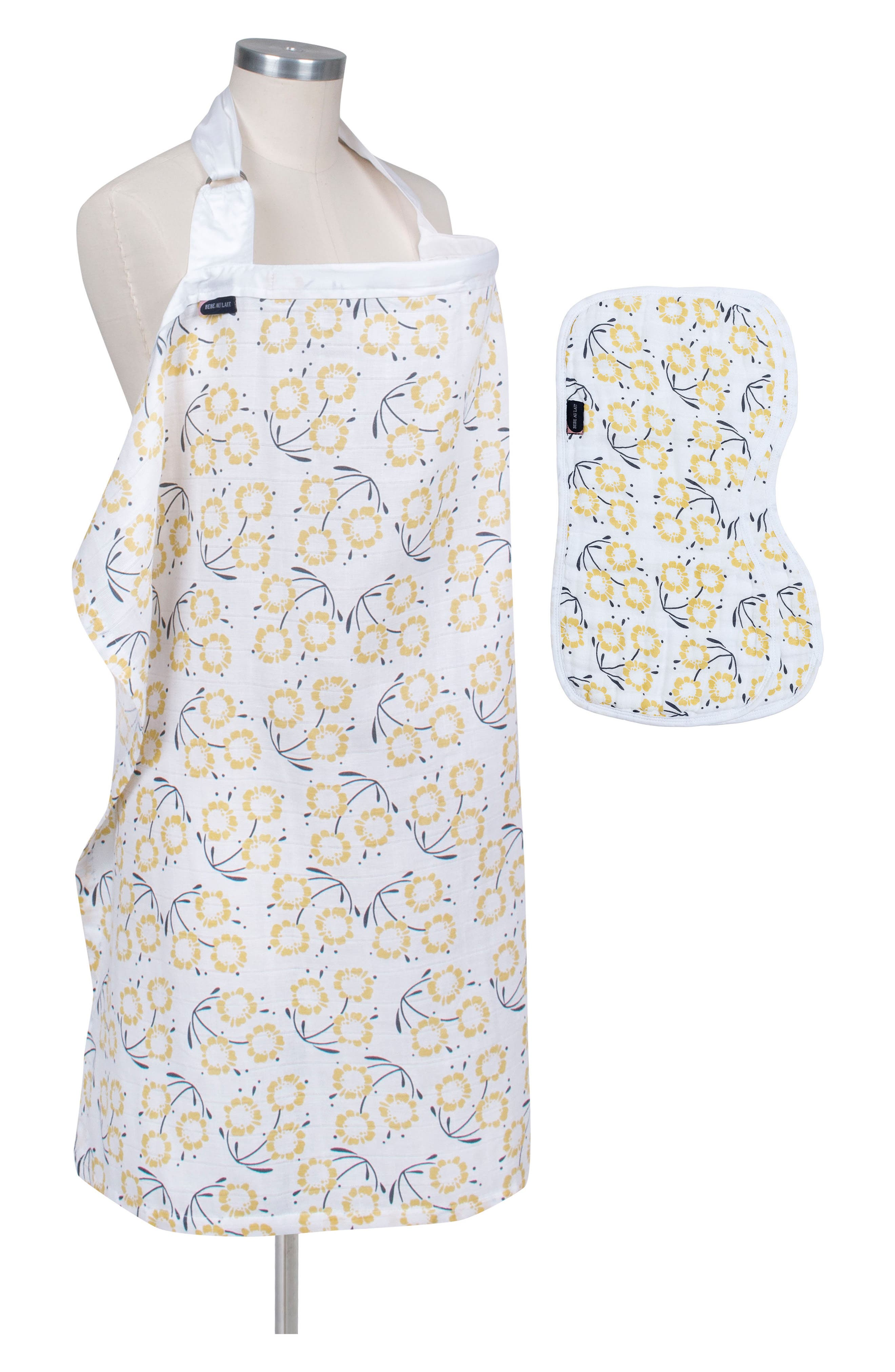 Nursing Cover & Burp Cloth Set,                             Main thumbnail 1, color,                             Sorrento