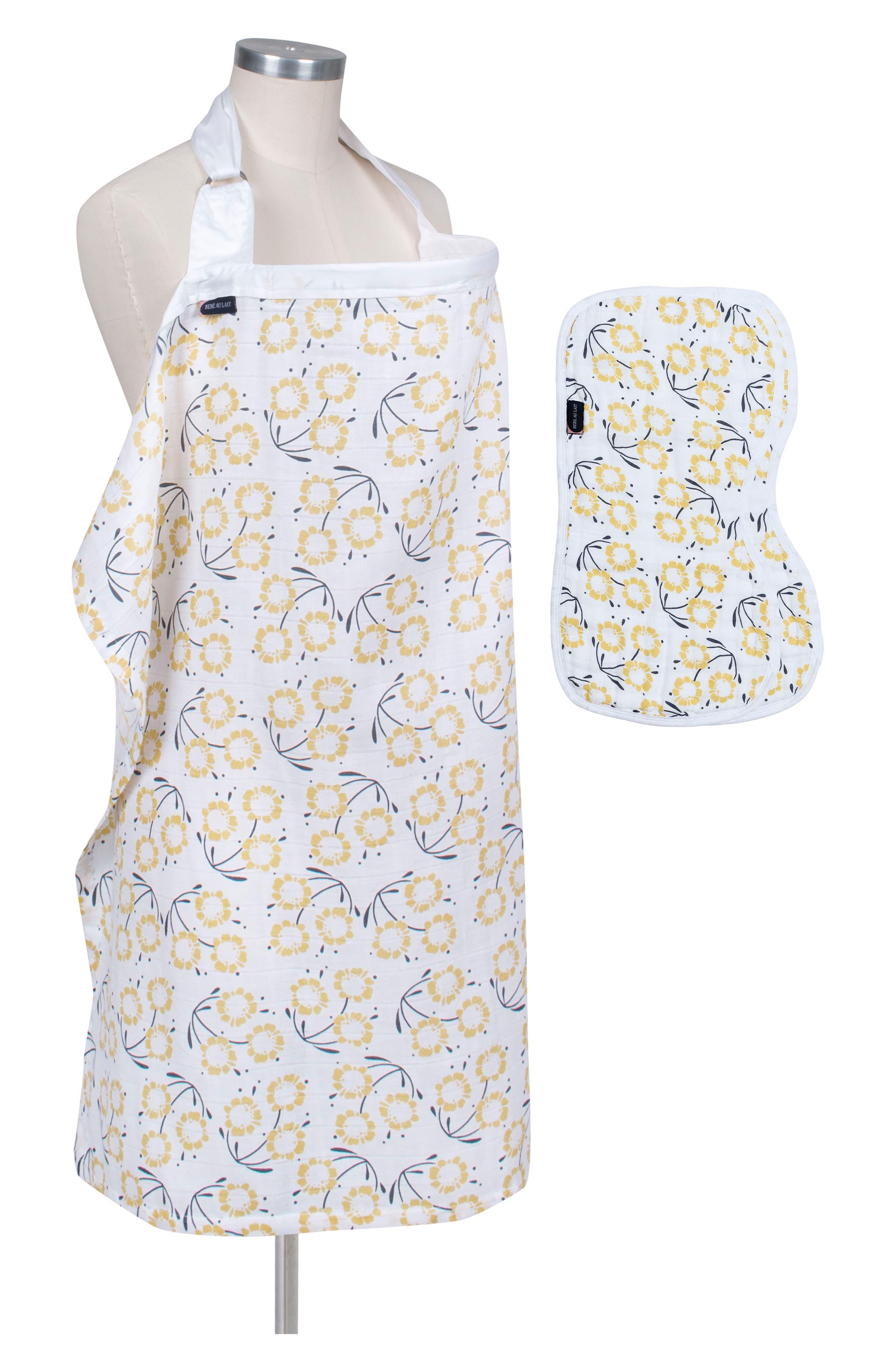 Nursing Cover & Burp Cloth Set,                         Main,                         color, Sorrento
