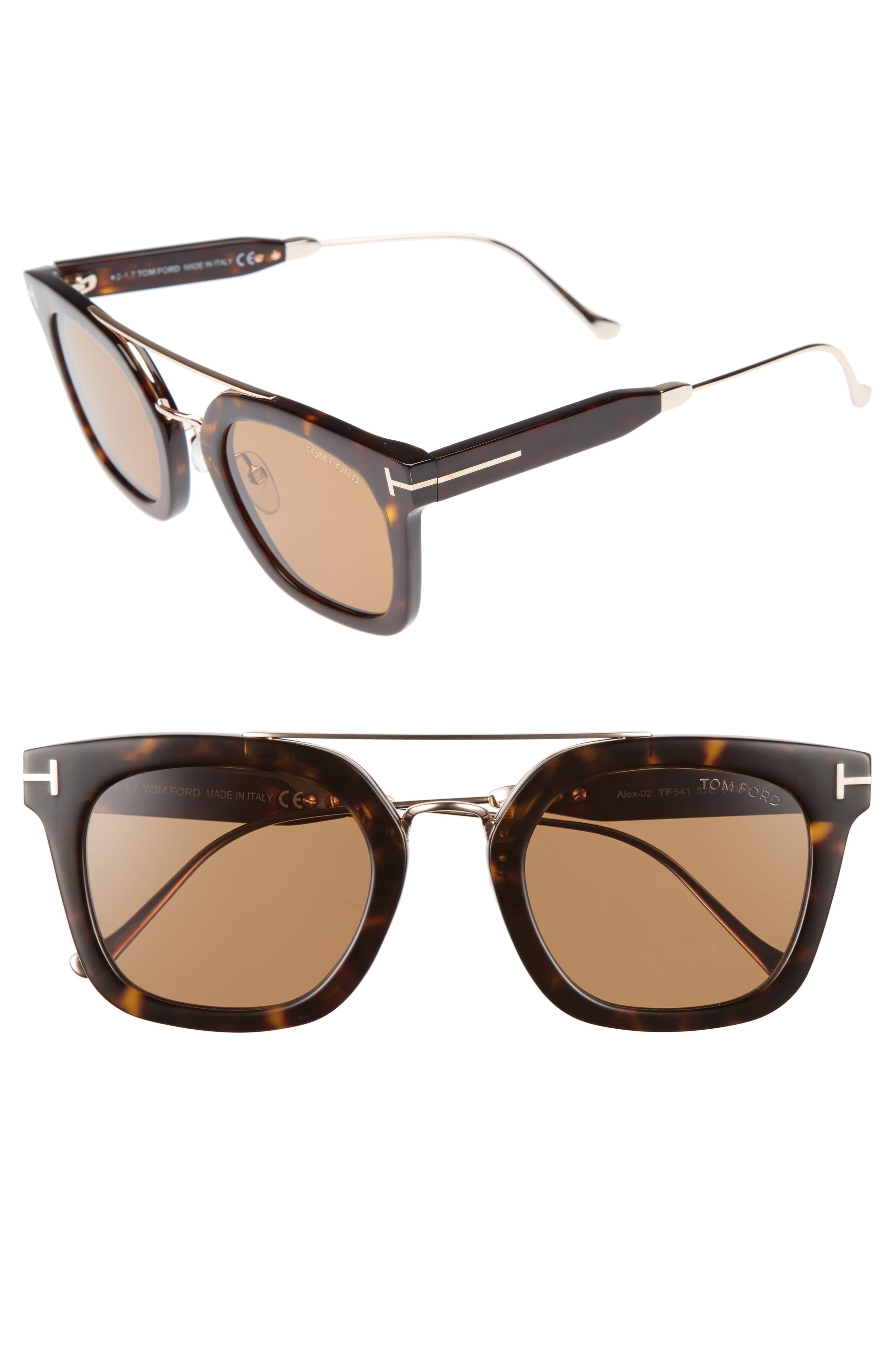 Main Image - Tom Ford Alex 51mm Sunglasses