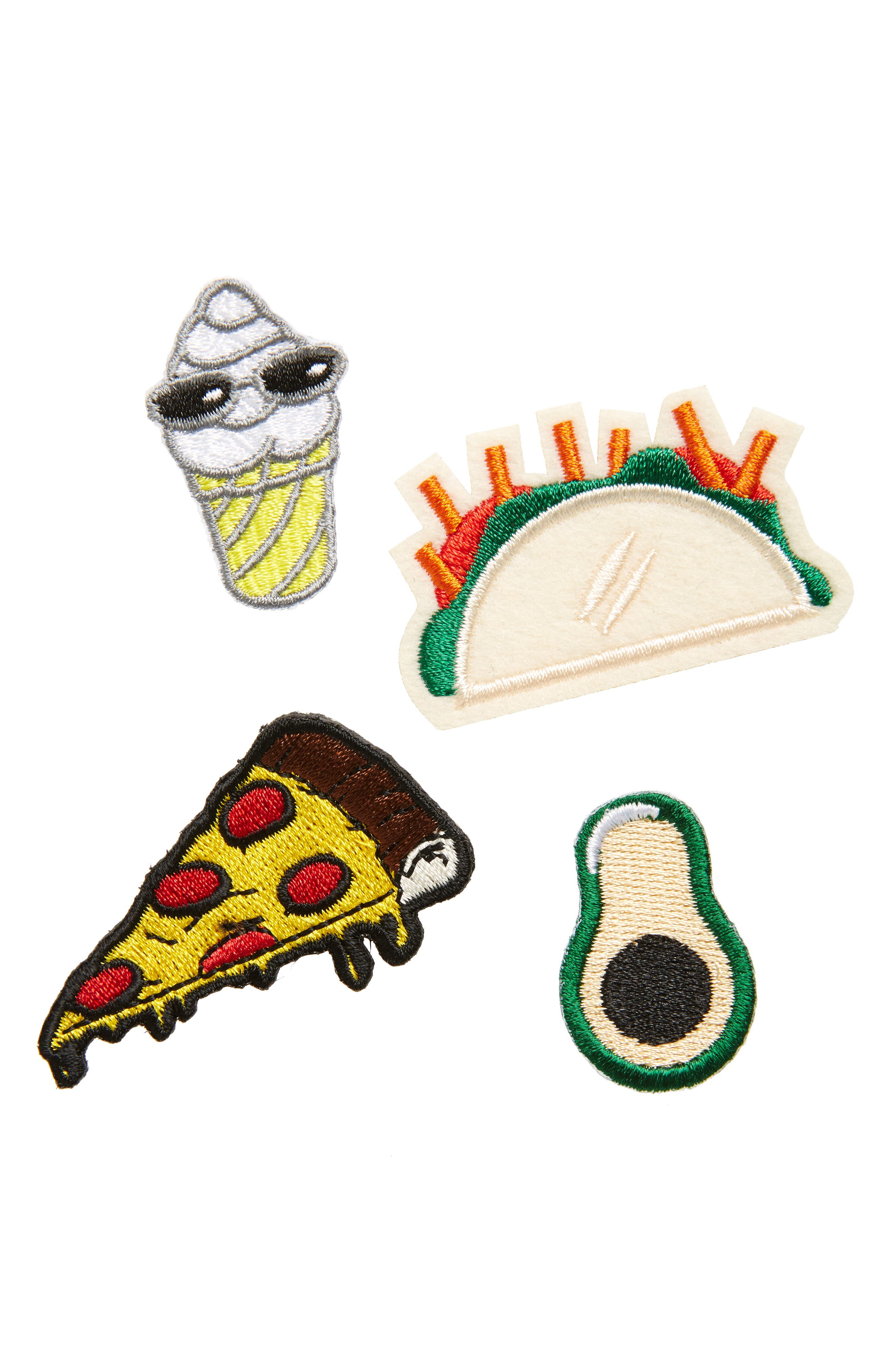 THE ACCESSORY COLLECTIVE Accessory Collective Taco Pack of 4 Iron-On Patches