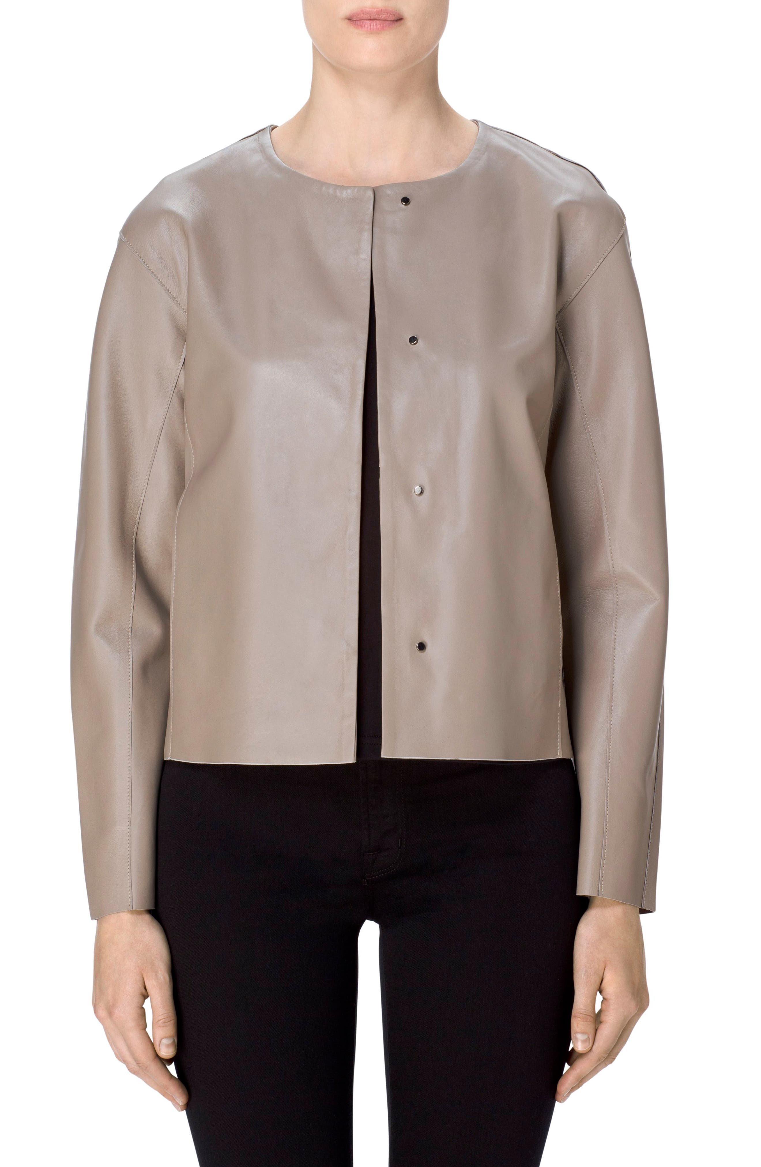 Alternate Image 4  - J Brand Cecelia Collarless Leather Jacket