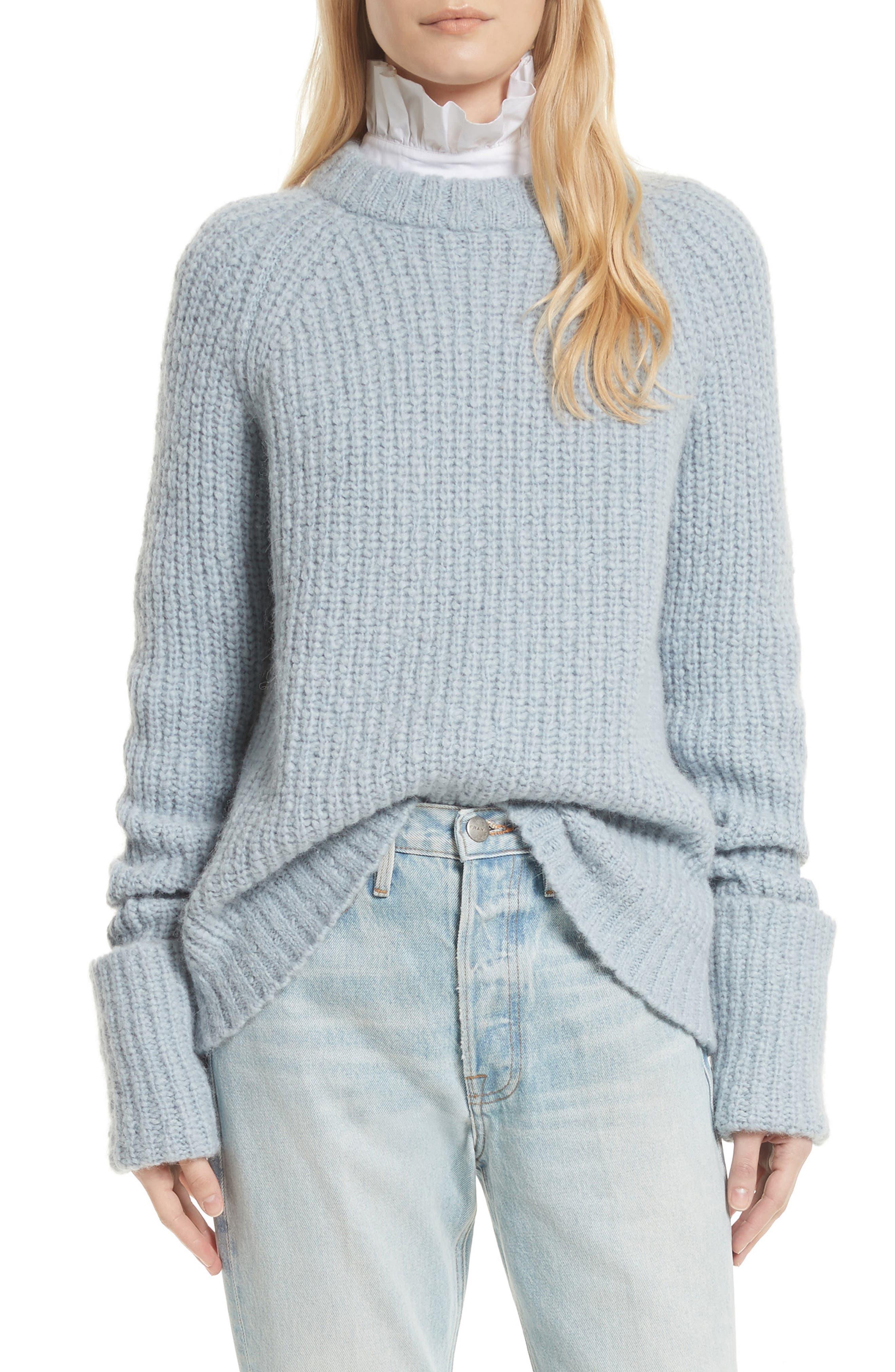 FRAME Alpaca Blend Cuffed Raglan Sweater