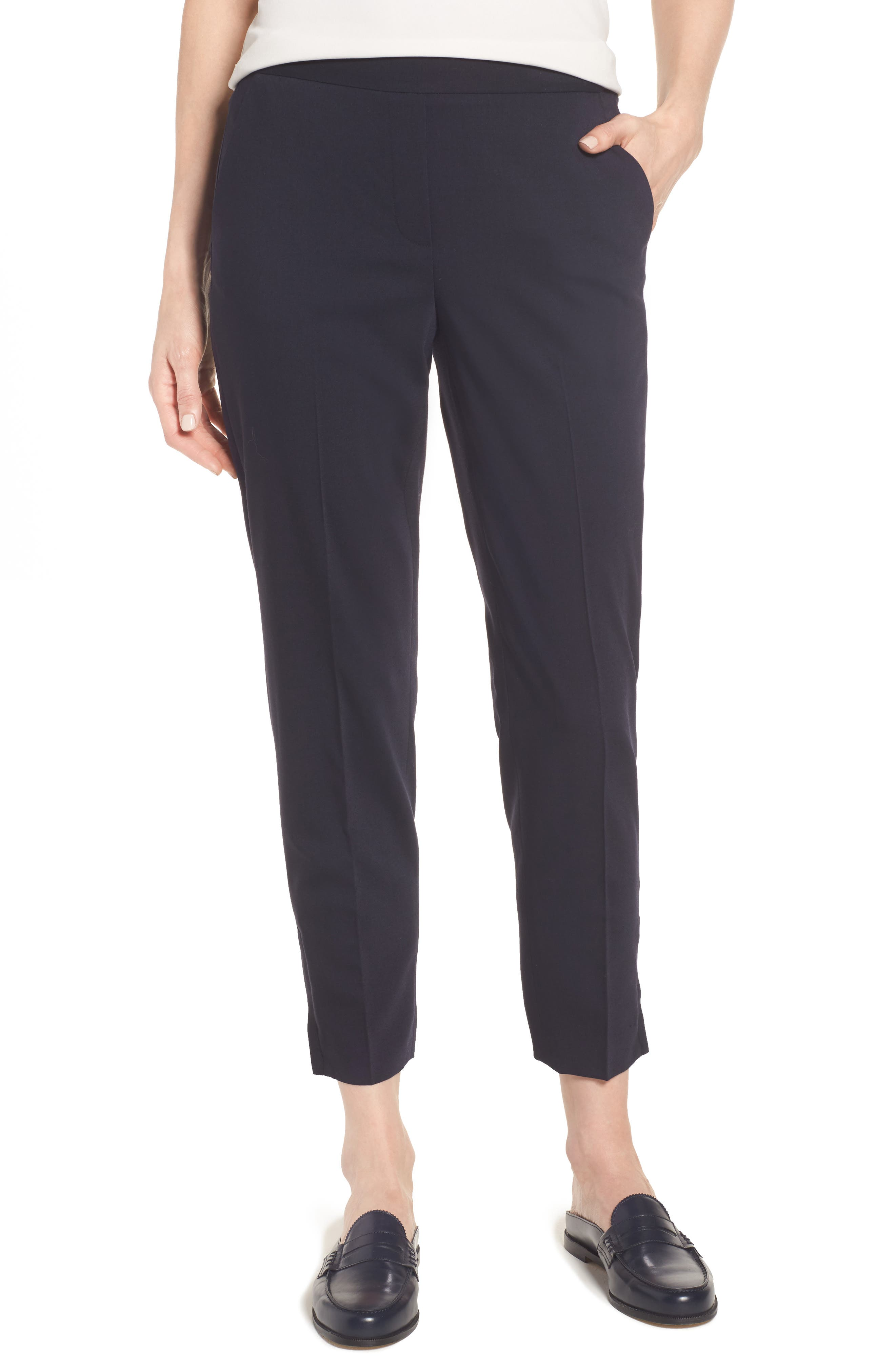 Stretch Ankle Pants,                         Main,                         color, Navy Night