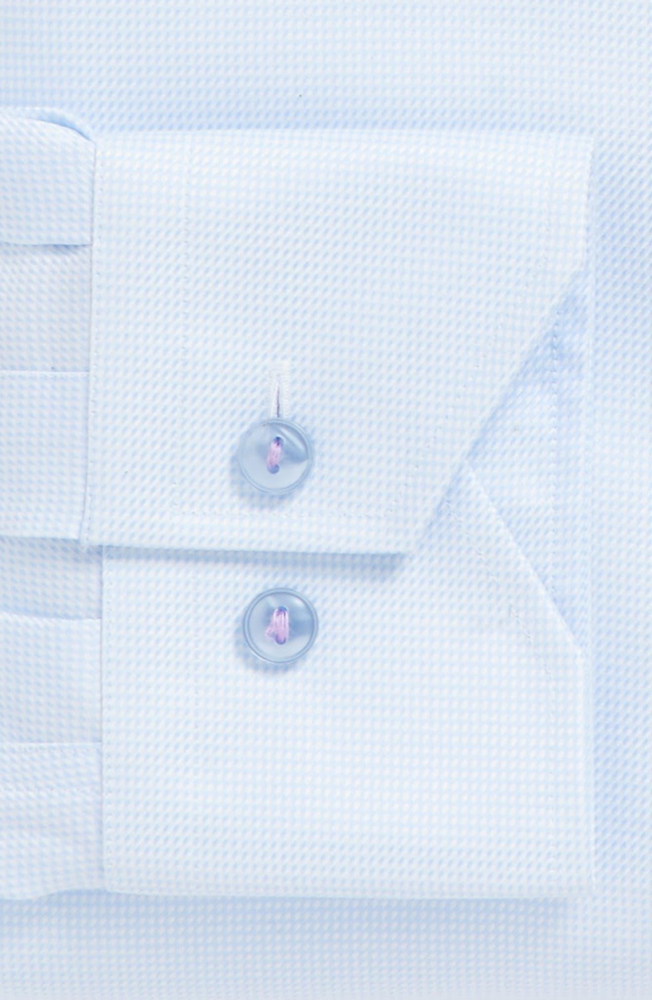 Alternate Image 4  - Lorenzo Uomo Trim Fit Houndstooth Dress Shirt