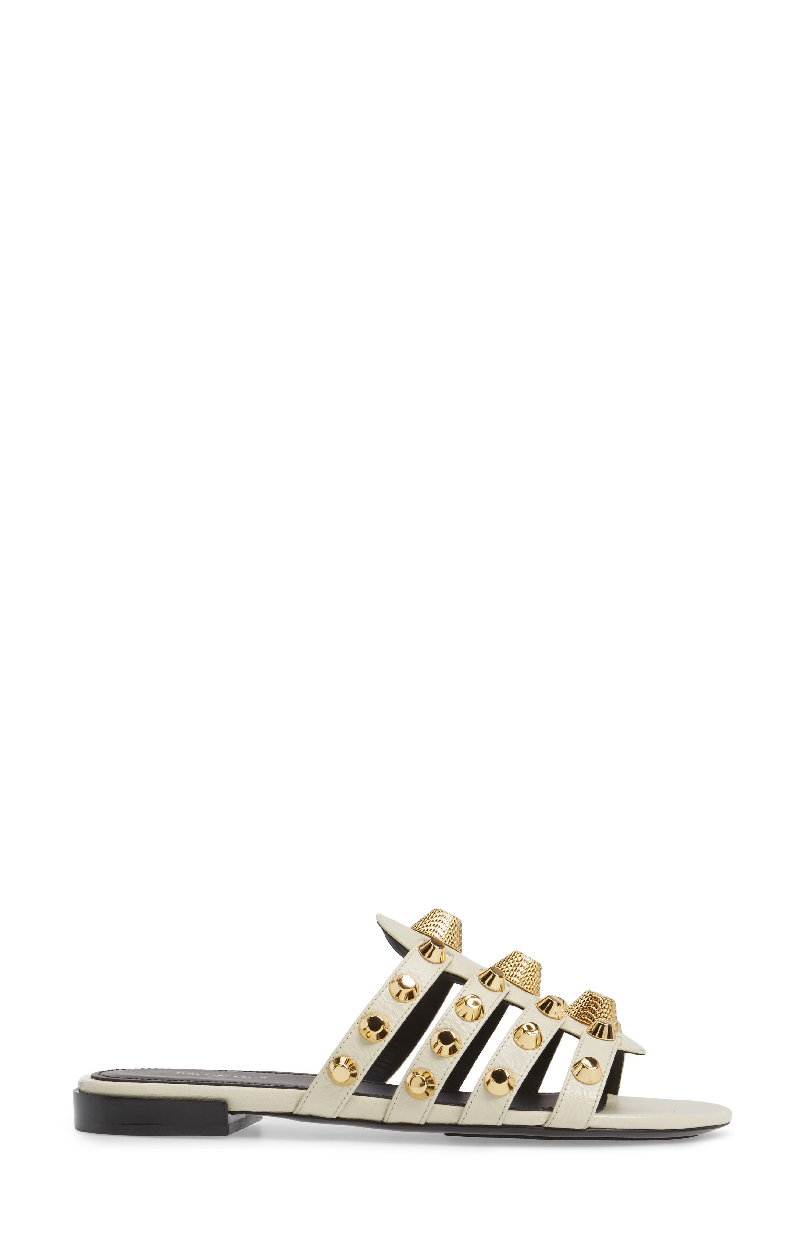 Alternate Image 3  - Balenciaga Arena Studded Slip-On Sandal (Women)