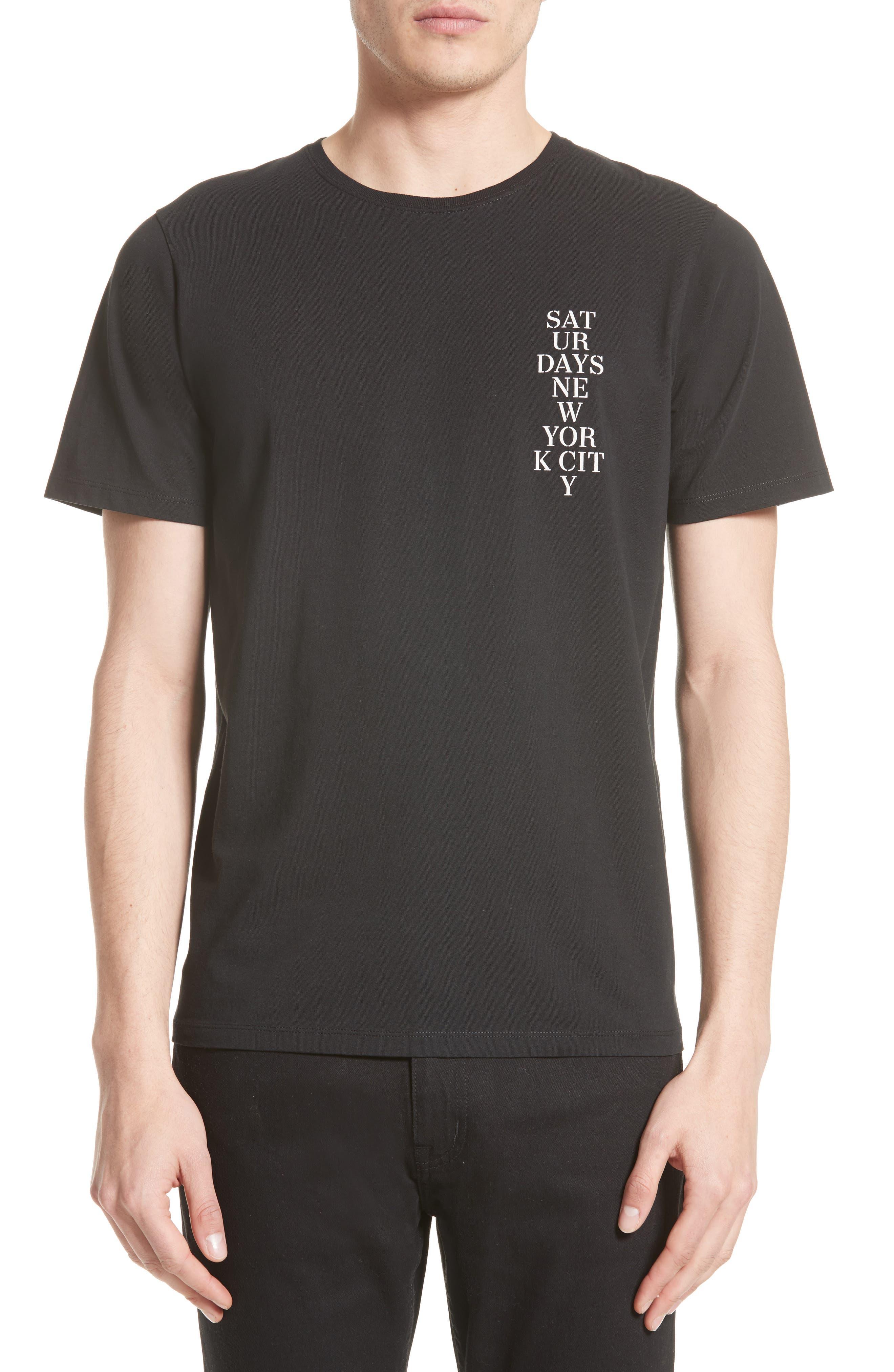 Saturdays NYC Logo Stencil Graphic T-Shirt