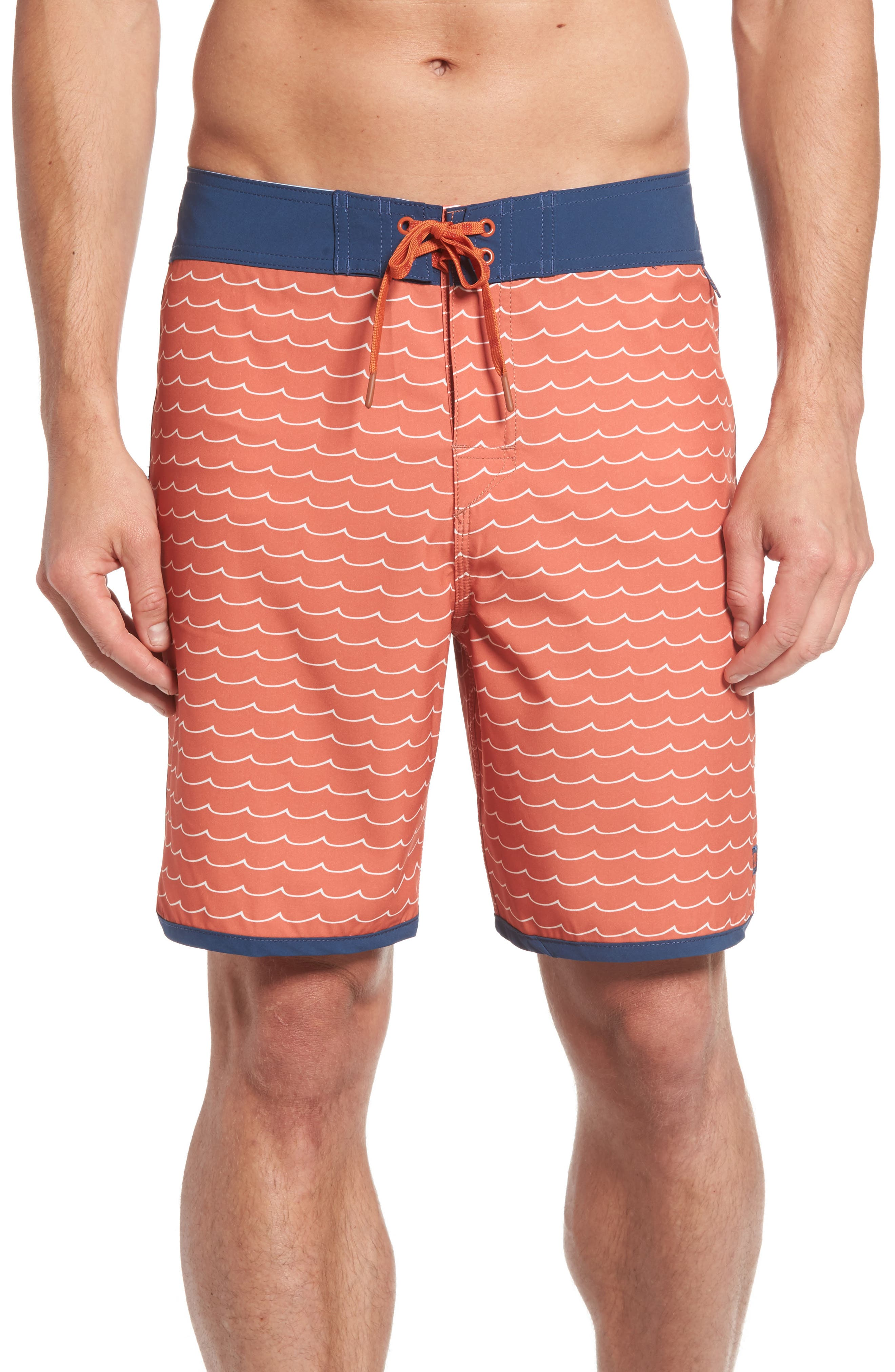'Windswell' Board Shorts,                         Main,                         color, Sunset Red