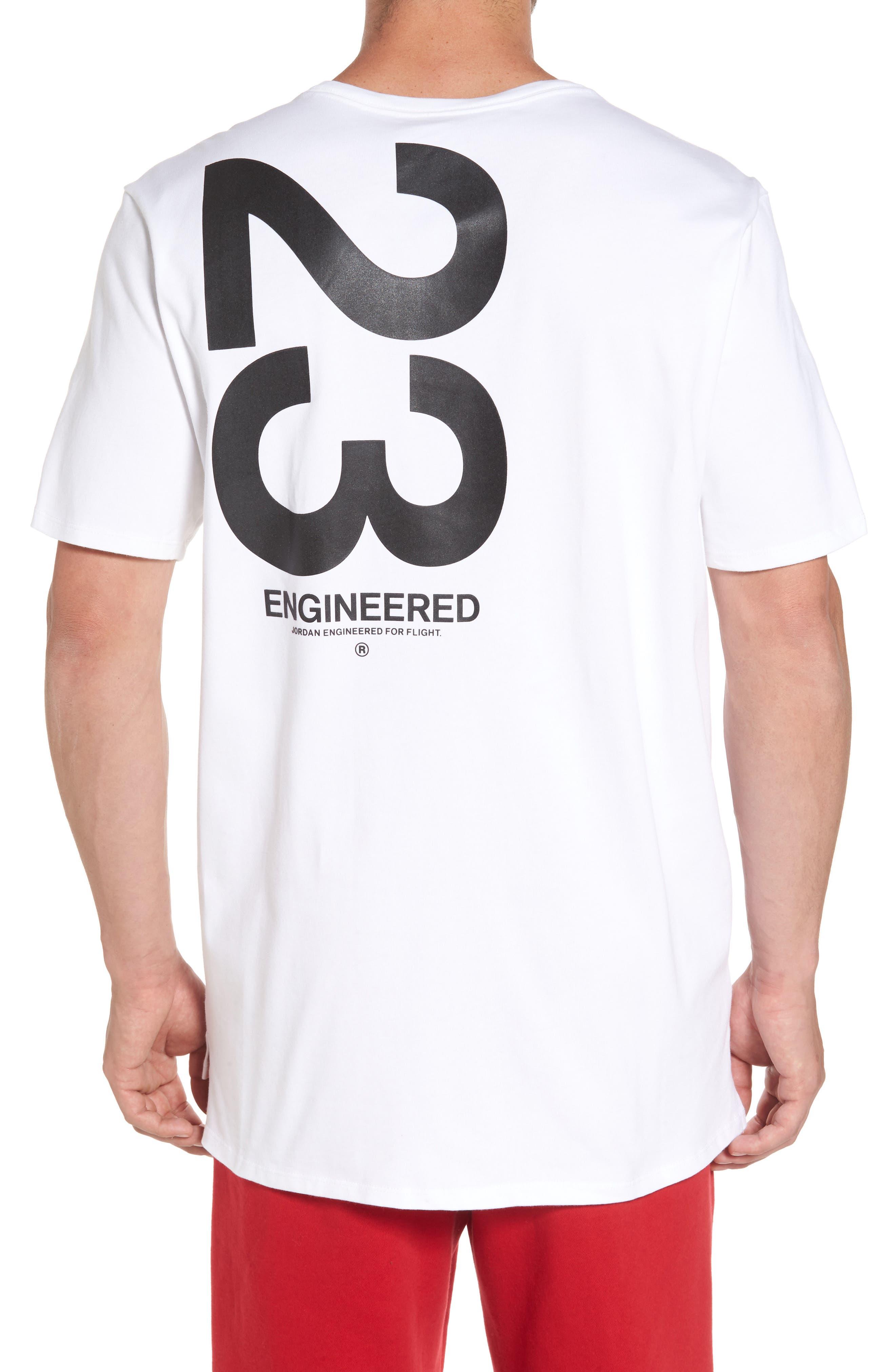 Sportswear 23 Engineered T-Shirt,                             Alternate thumbnail 2, color,                             White/ Black