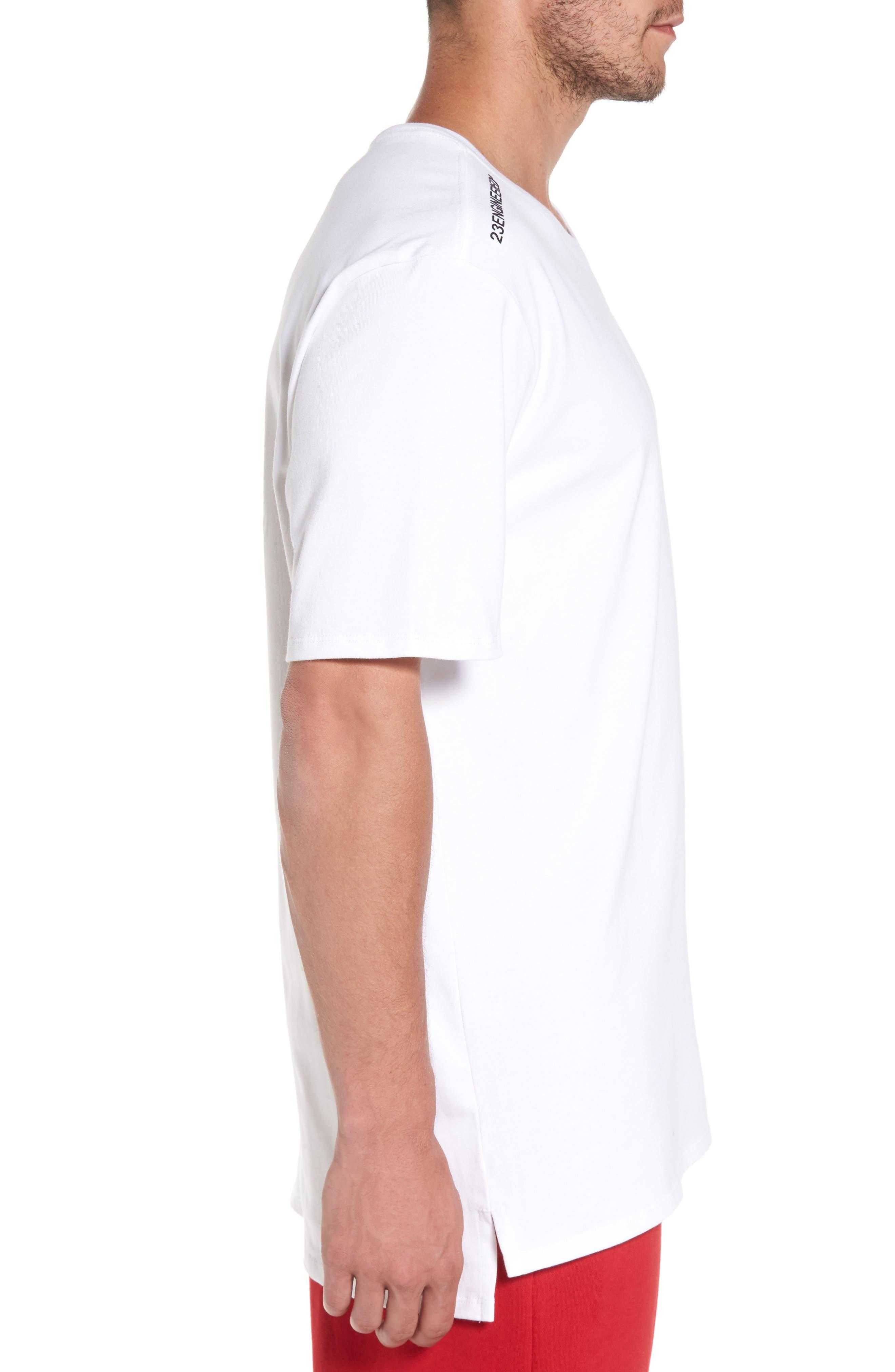 Sportswear 23 Engineered T-Shirt,                             Alternate thumbnail 3, color,                             White/ Black
