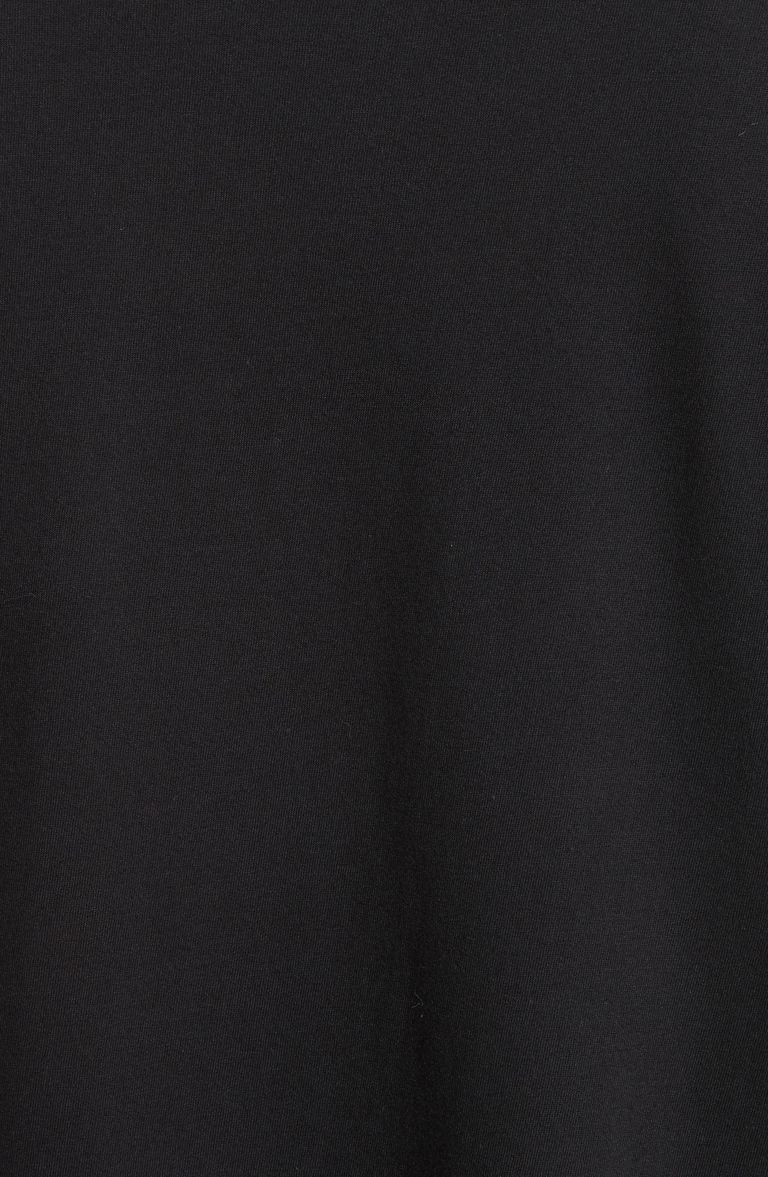 Oversize Skull Graphic T-Shirt,                             Alternate thumbnail 5, color,                             Black
