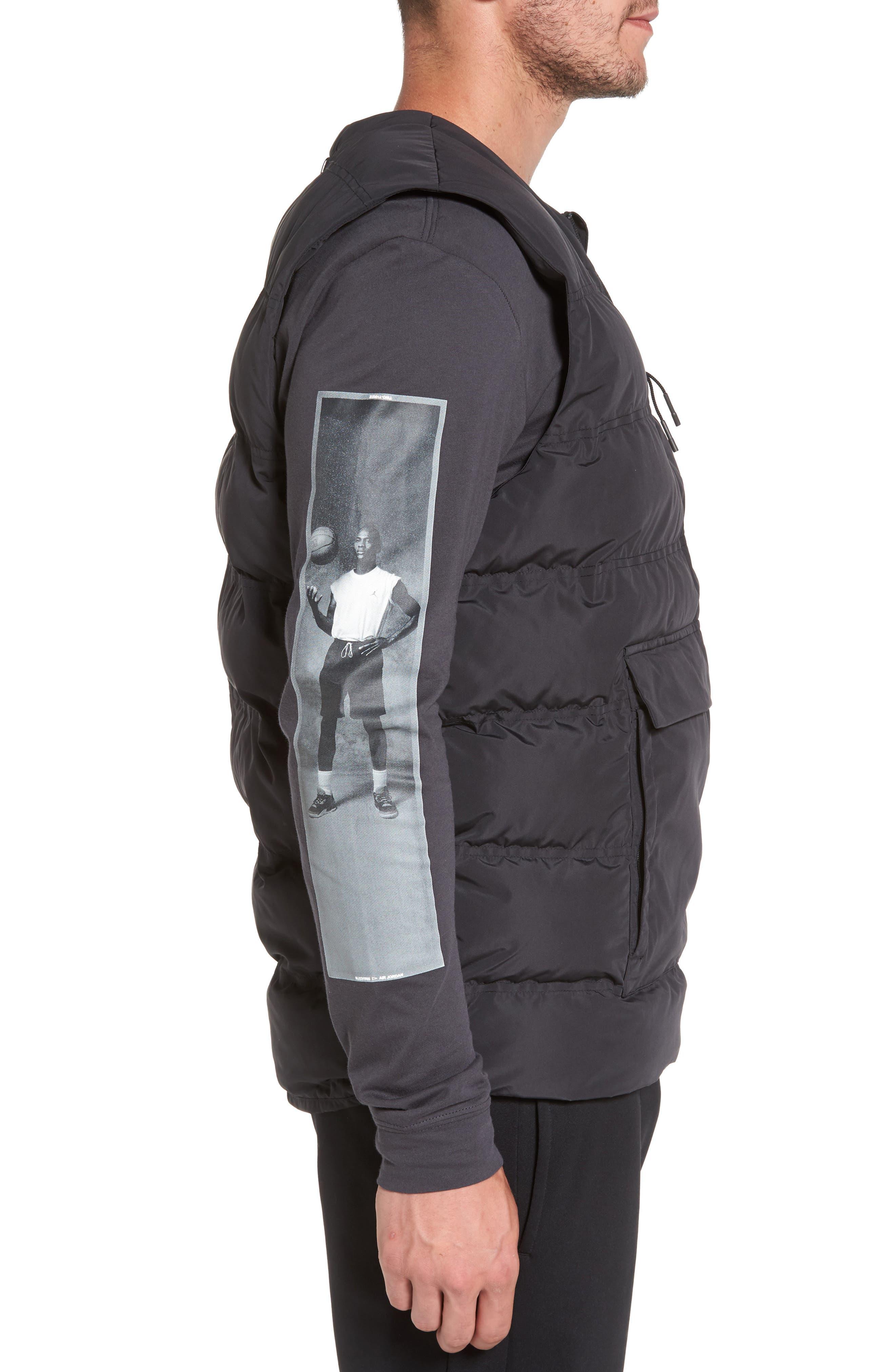 23 Tech Vest,                             Alternate thumbnail 3, color,                             Black