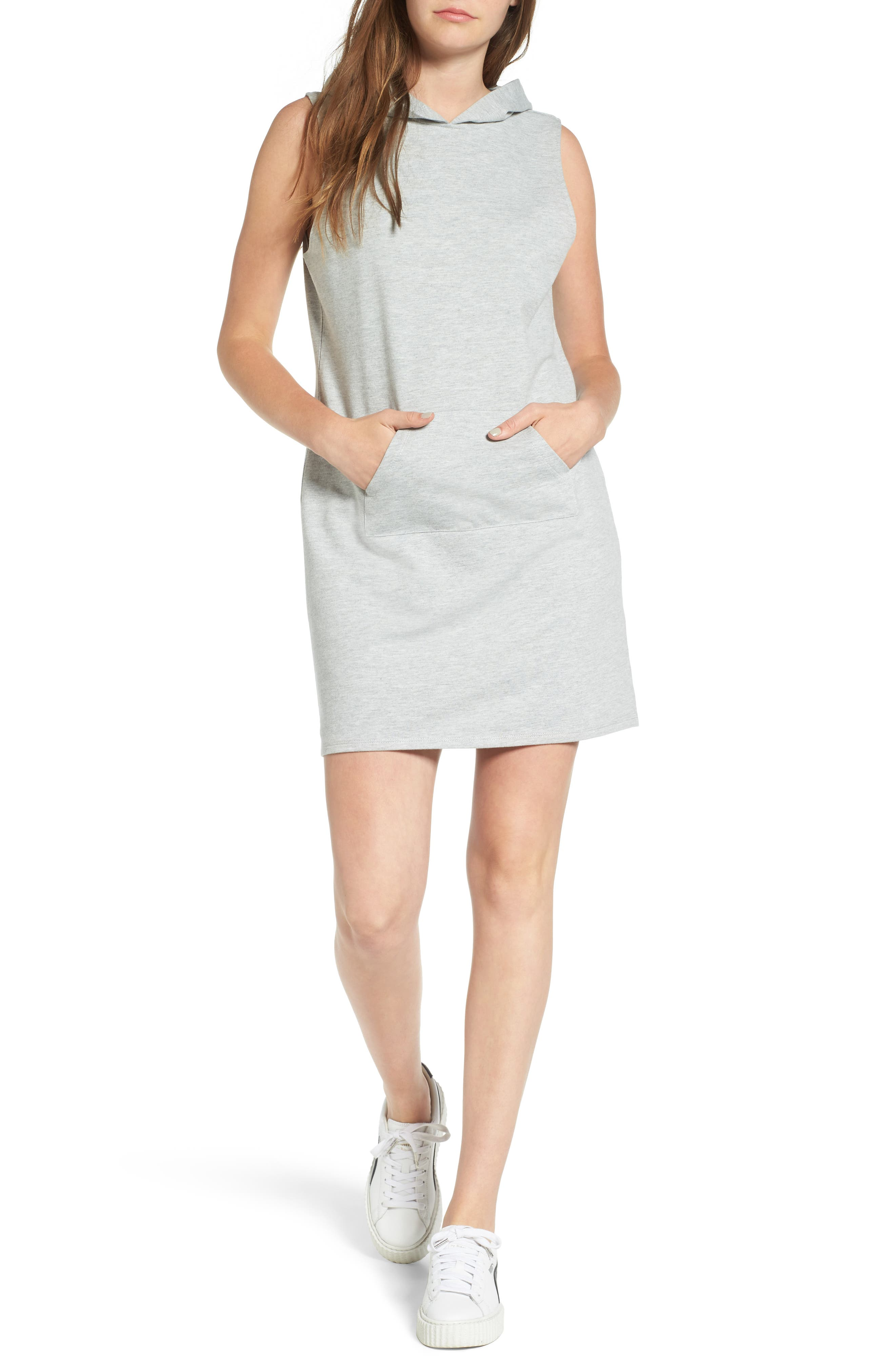 Love, Fire French Terry Hoodie Dress