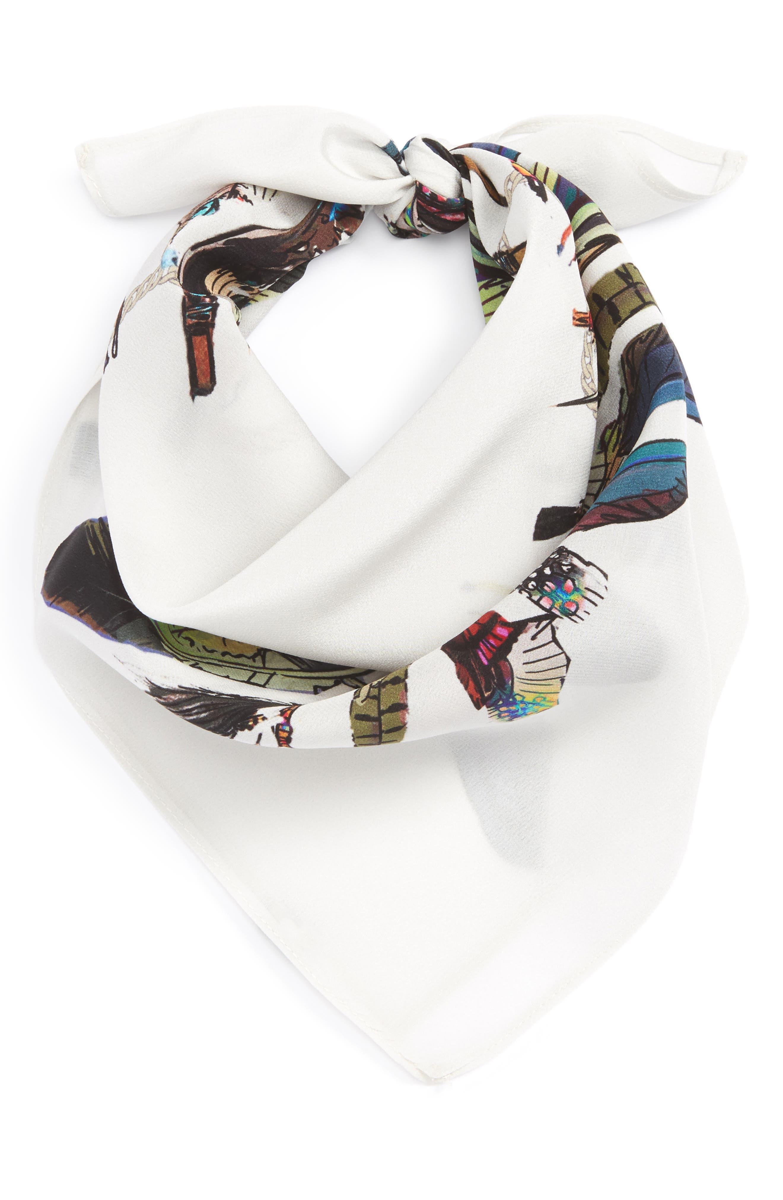 Rockins Feathers Silk Bandana