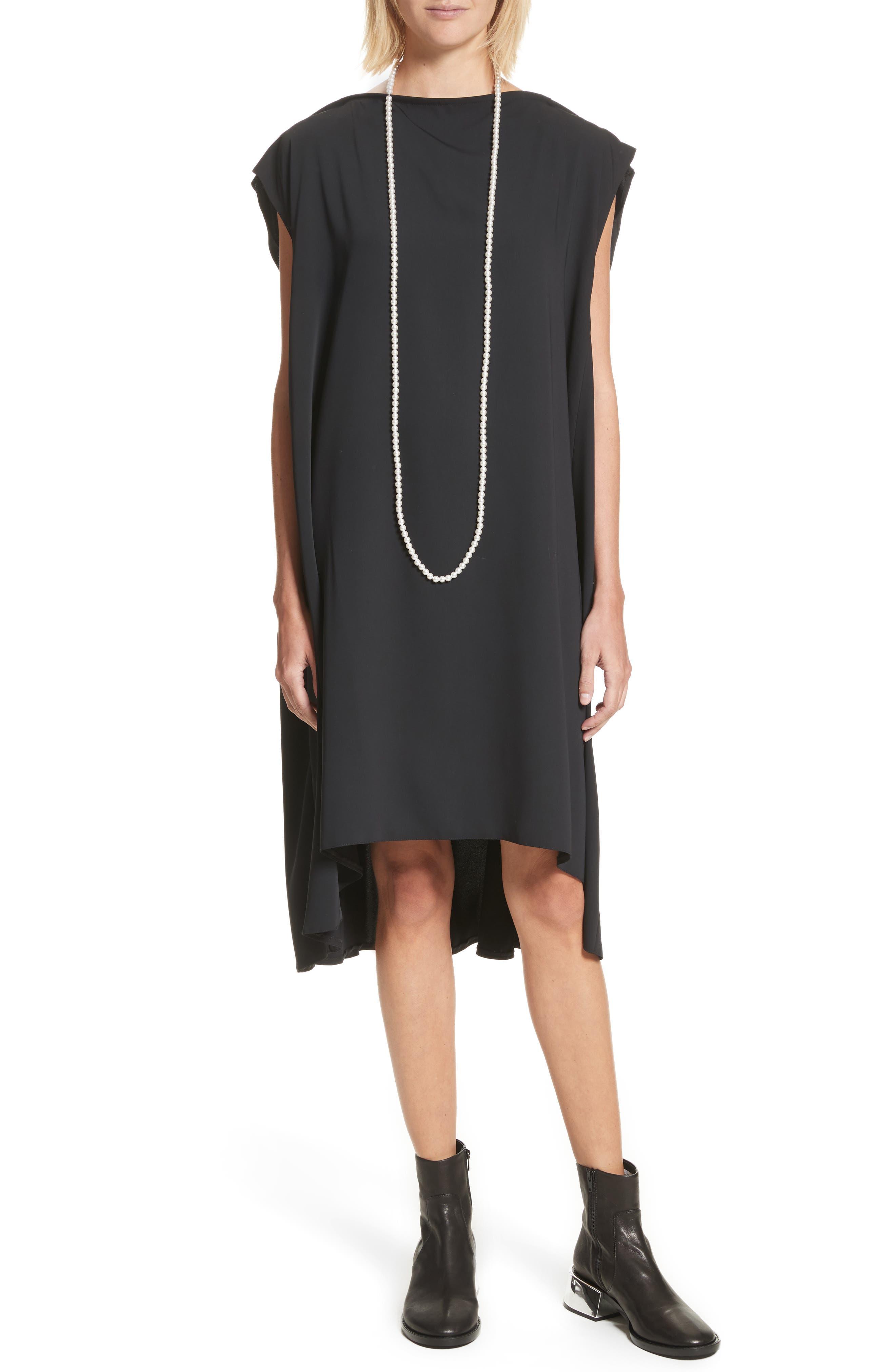 MM6 Maison Margiela Imitation Pearl Belt Shift Dress