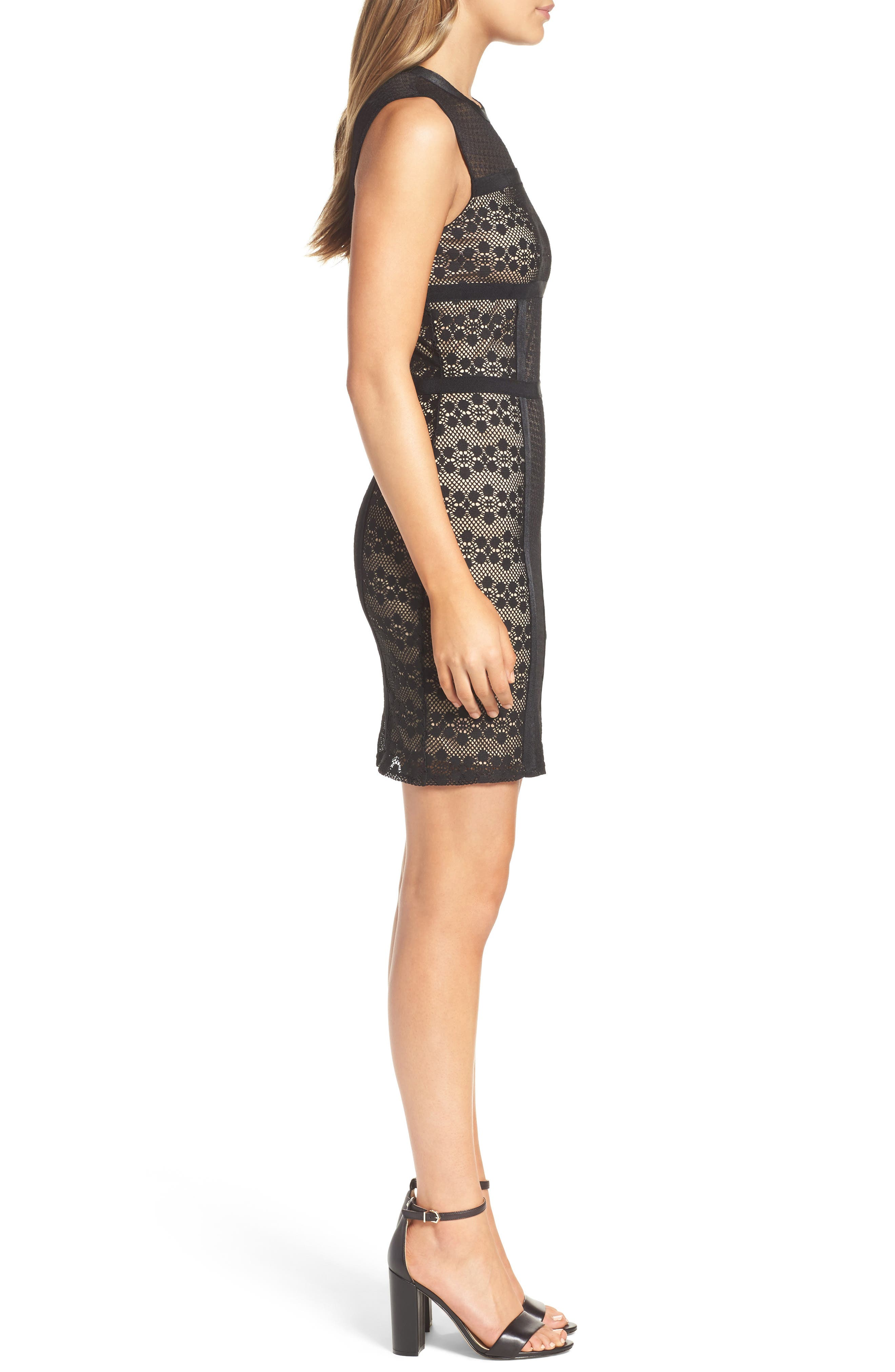 Hola Mamacita Body-Con Dress,                             Alternate thumbnail 3, color,                             Black