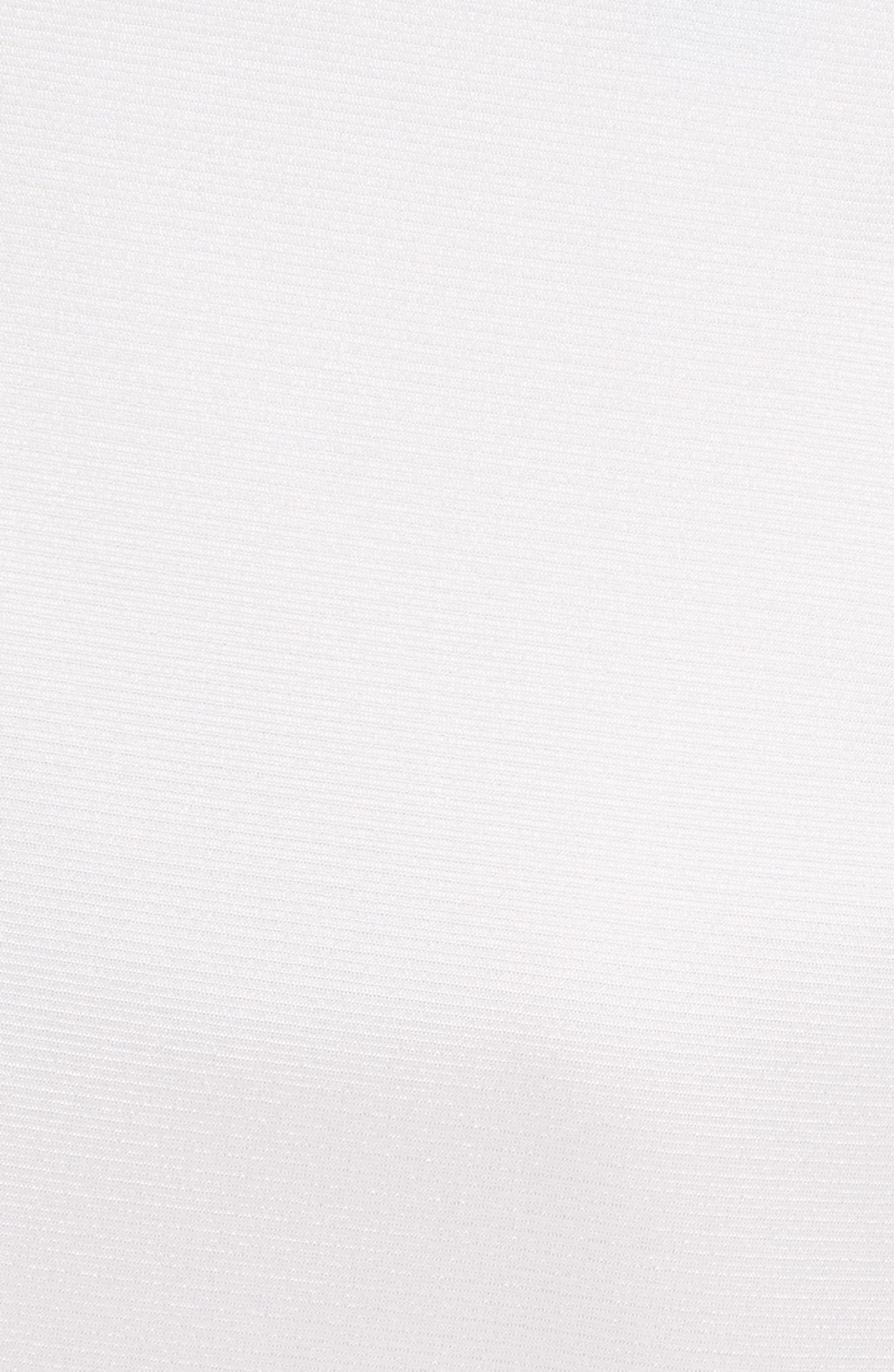 V-Neck Blouse with Bow Detail,                             Alternate thumbnail 6, color,                             White