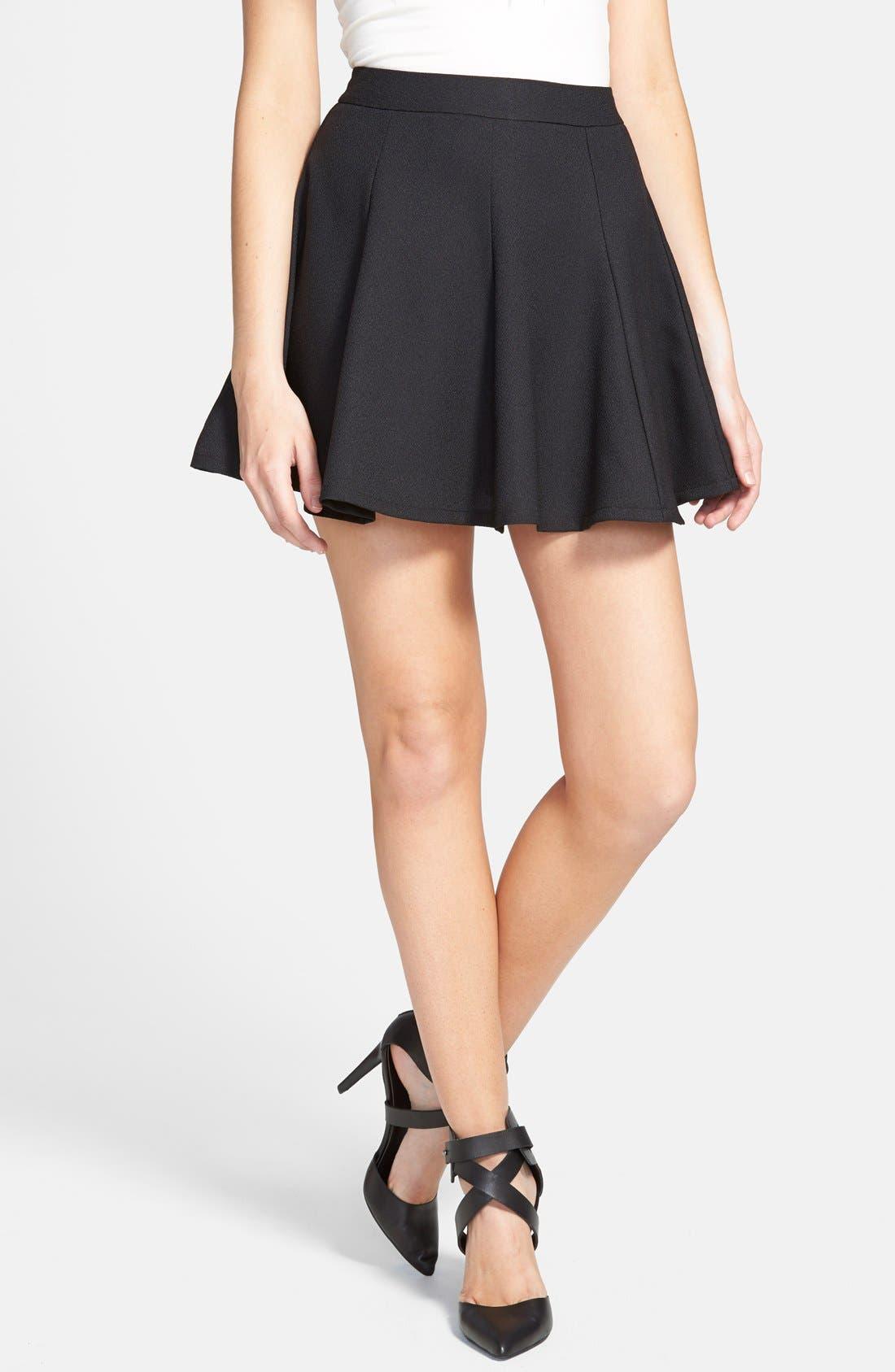 Alternate Image 1 Selected - Lush Skater Skirt