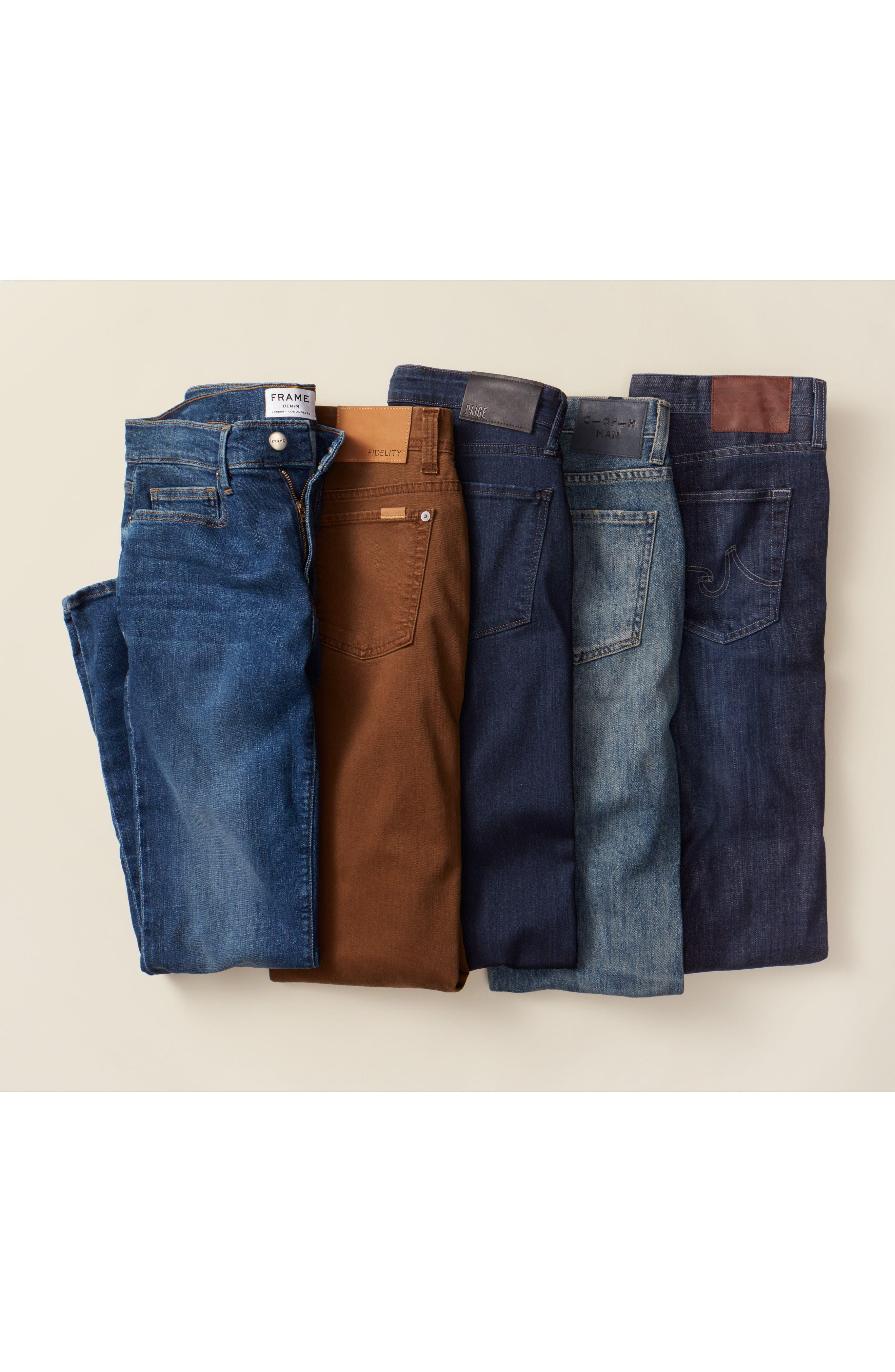 Alternate Image 8  - AG Graduate Slim Straight Leg Jeans (Balcony) (Regular & Tall)