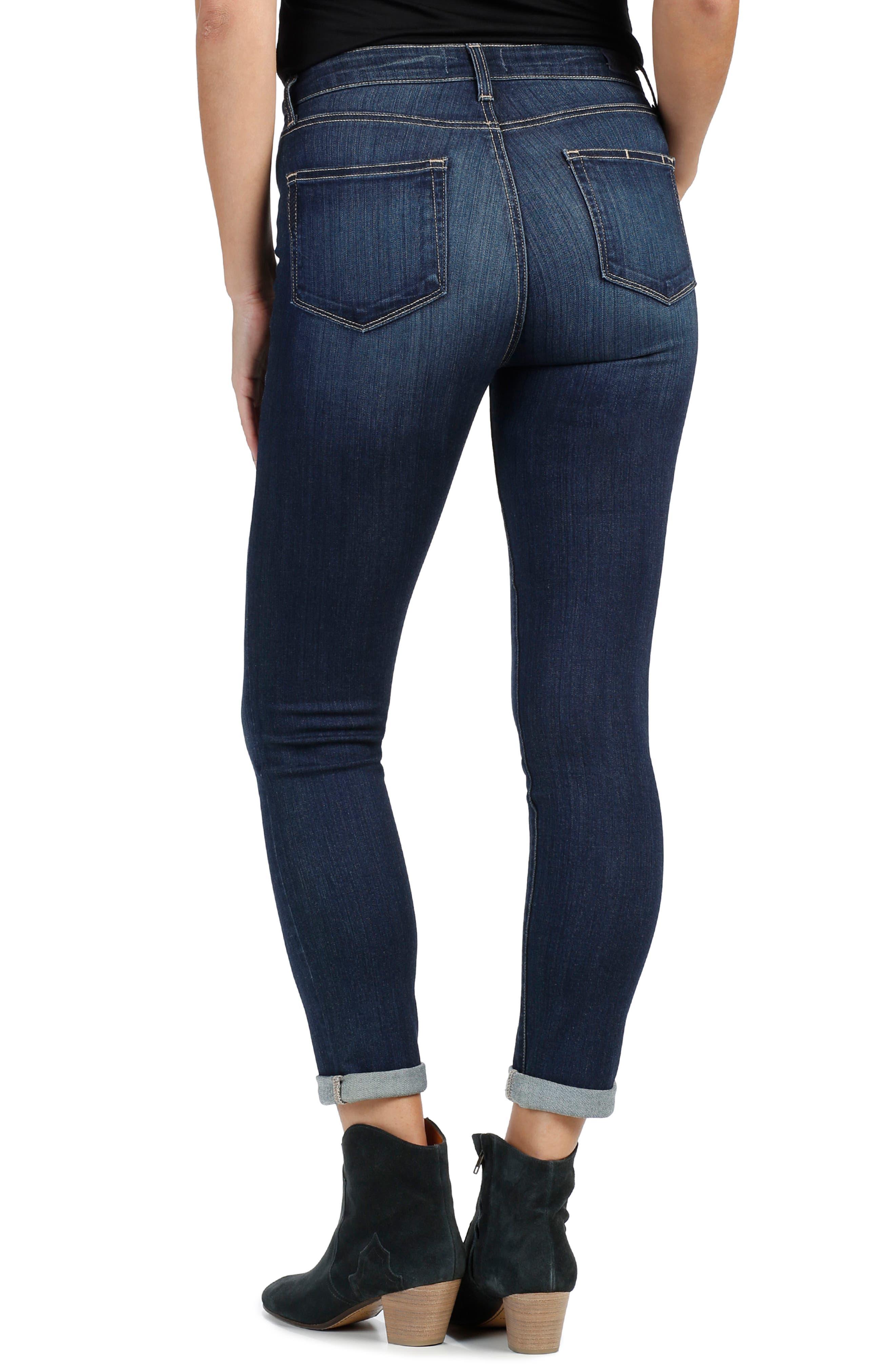 Alternate Image 3  - PAIGE Transcend - Hoxton High Waist Crop Skinny Jeans (Drift)