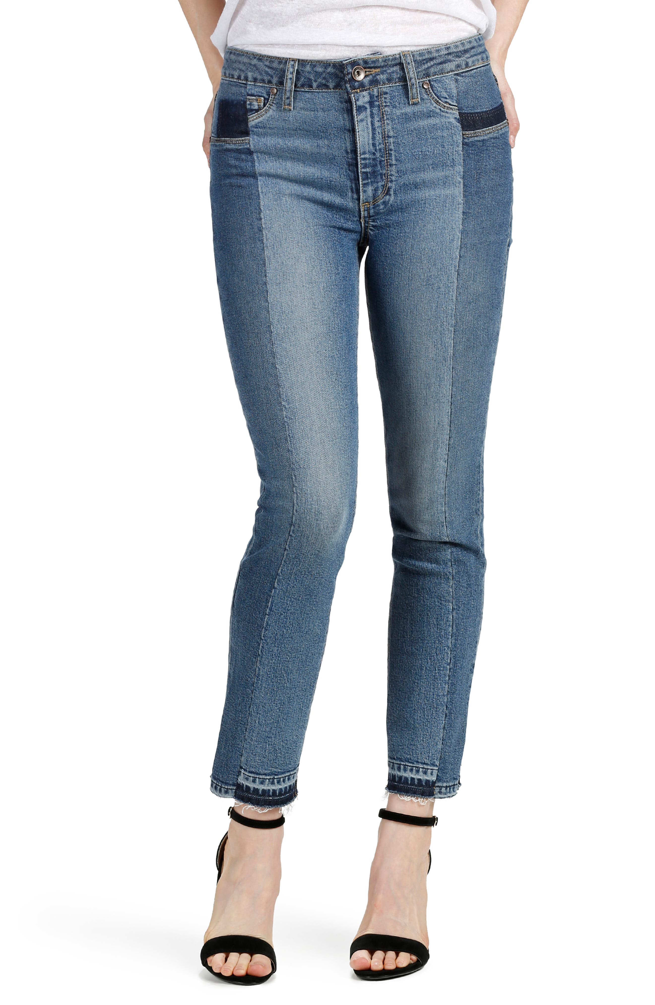 PAIGE Taylor High Waist Straight Leg Jeans