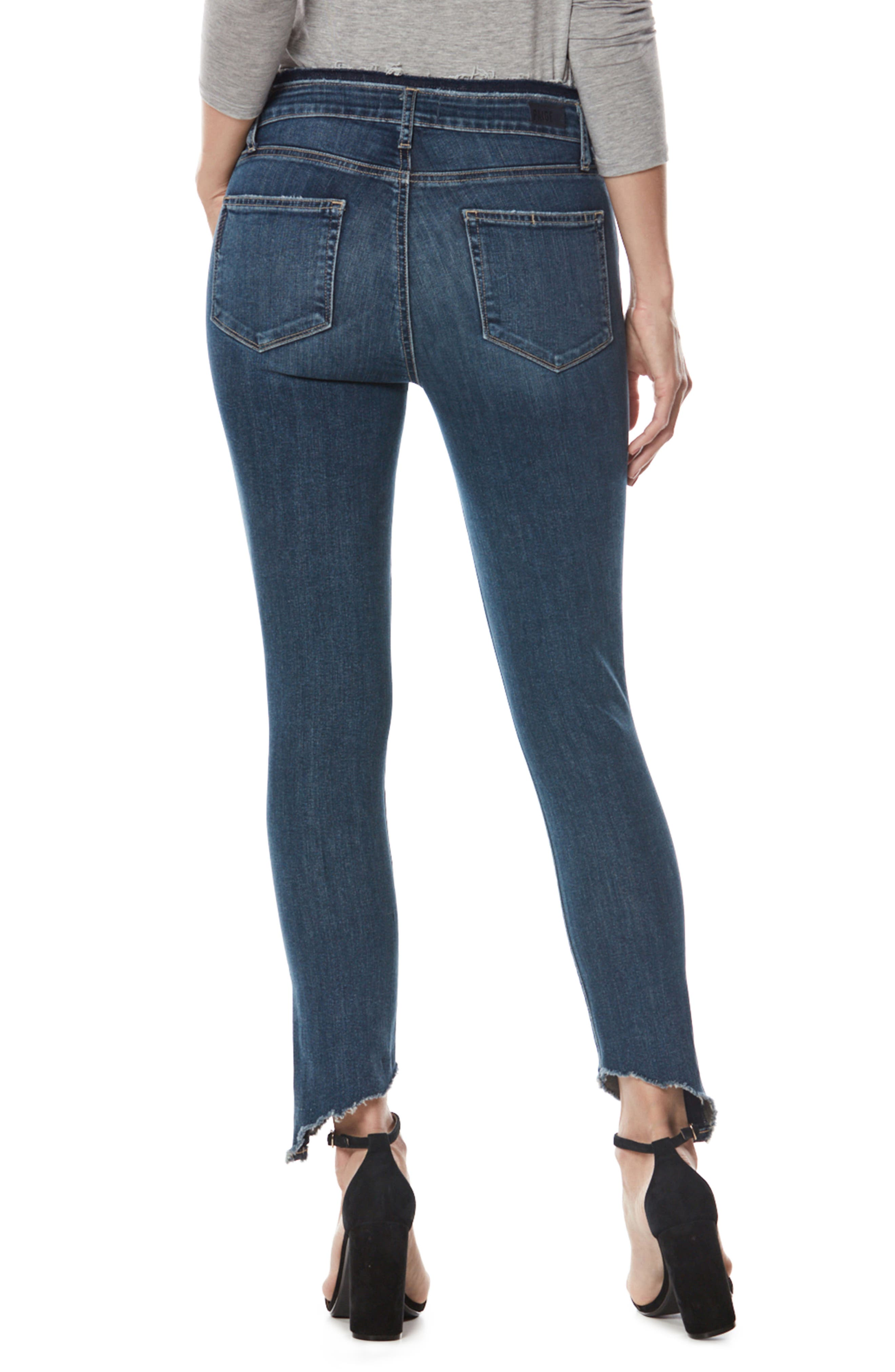 Alternate Image 2  - PAIGE Hoxton High Waist Frayed Hem Ankle Skinny Jeans (Fraya)