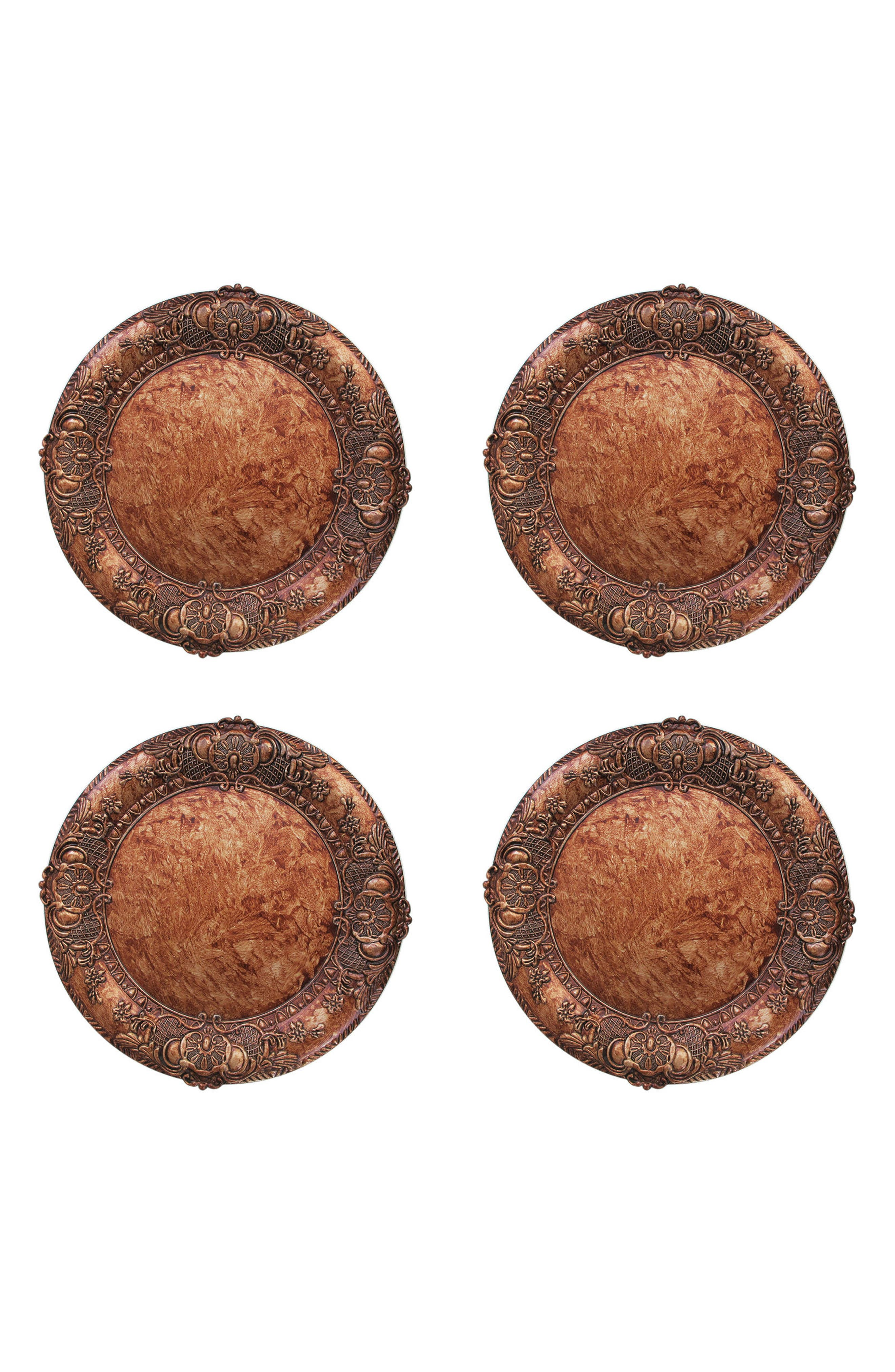 Alternate Image 1 Selected - American Atelier Set of 4 Embossed Charger Plates