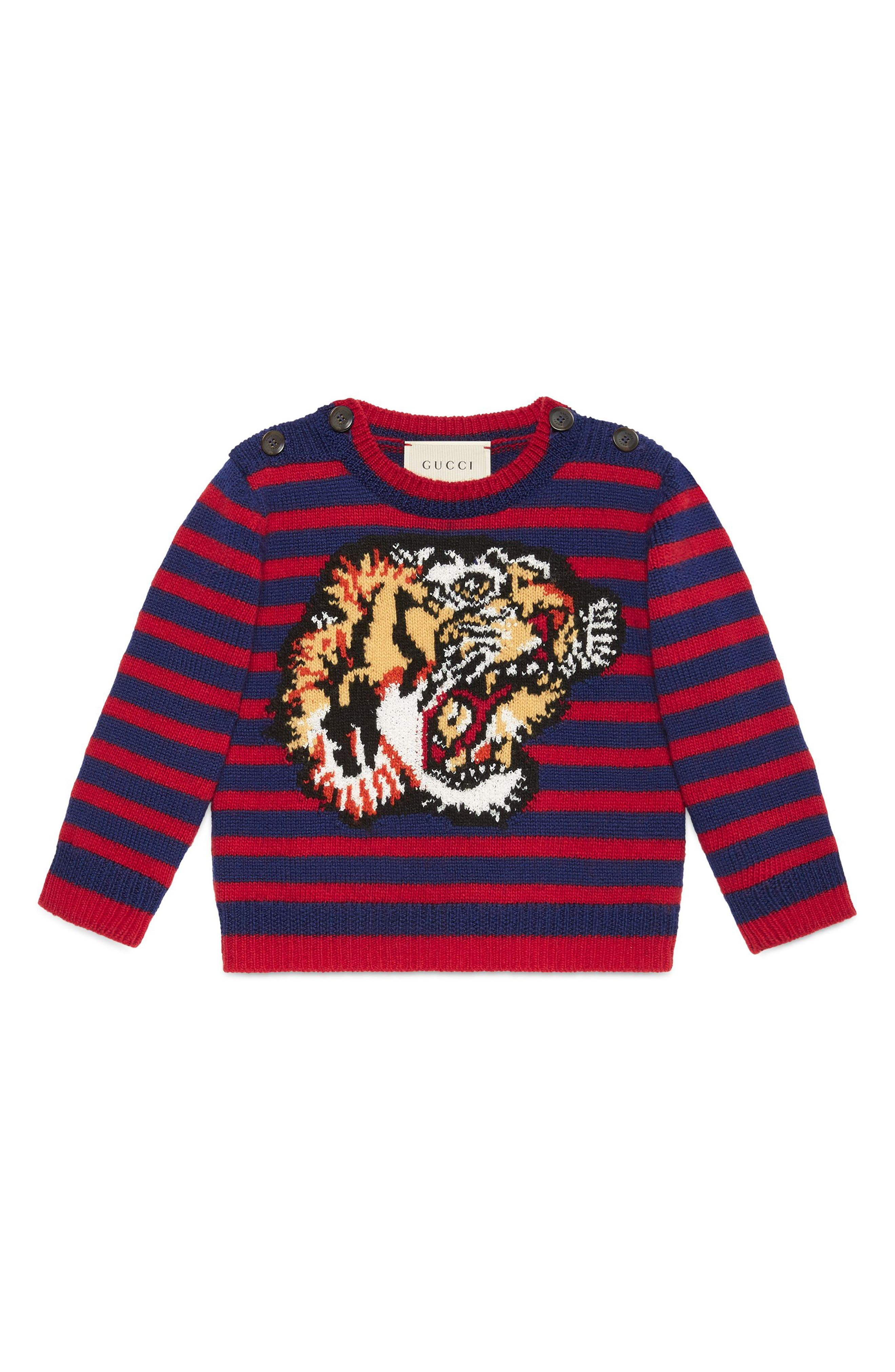 Gucci Intarsia Tiger Wool Sweater (Baby)