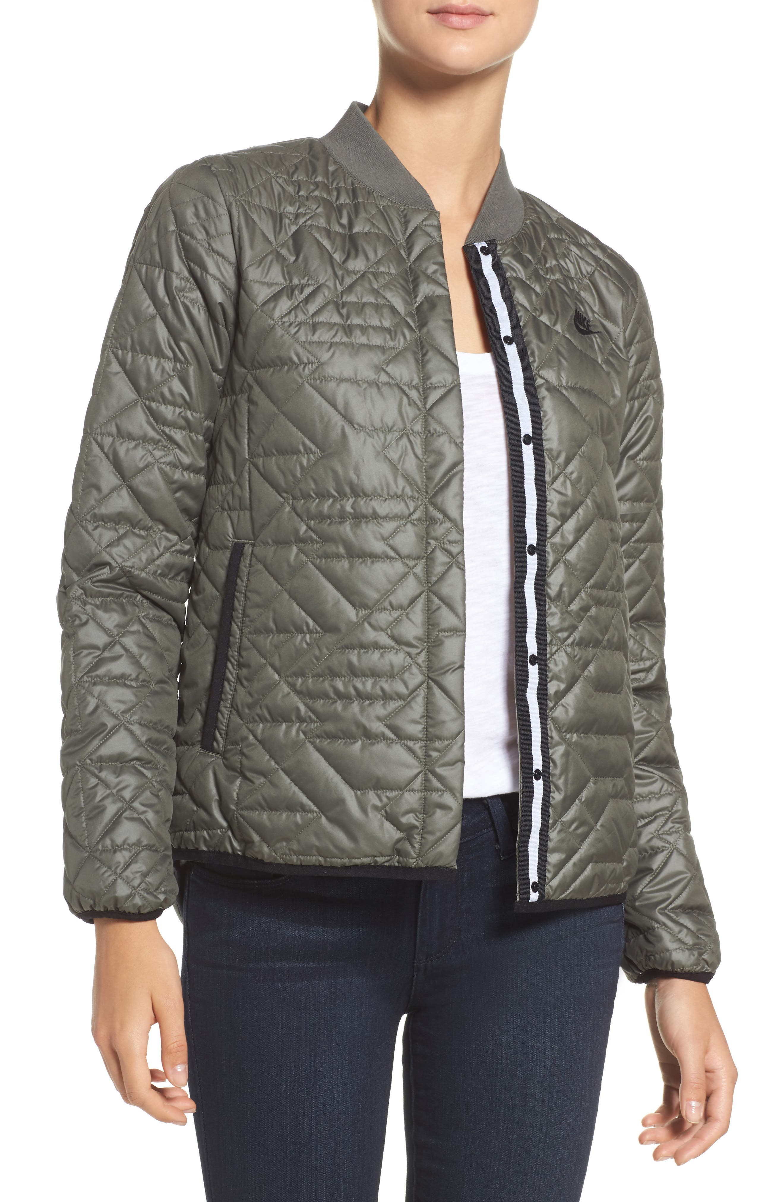 Nike Quilted Down Bomber Jacket