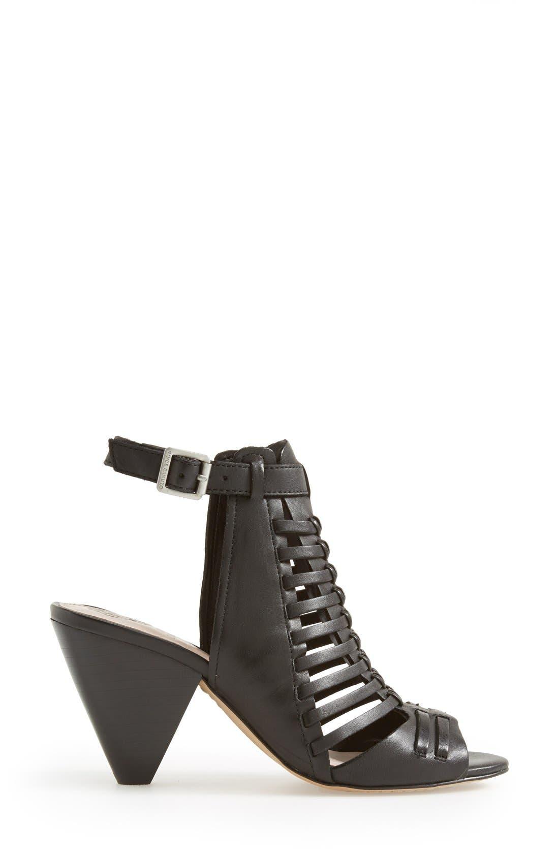 'Effel' Sandal,                             Alternate thumbnail 6, color,                             Black