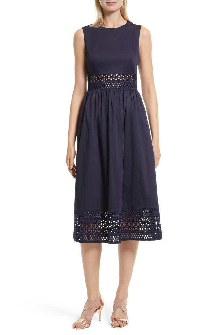 Ted Baker London Tharia Stretch Cotton Midi Dress Nordstrom