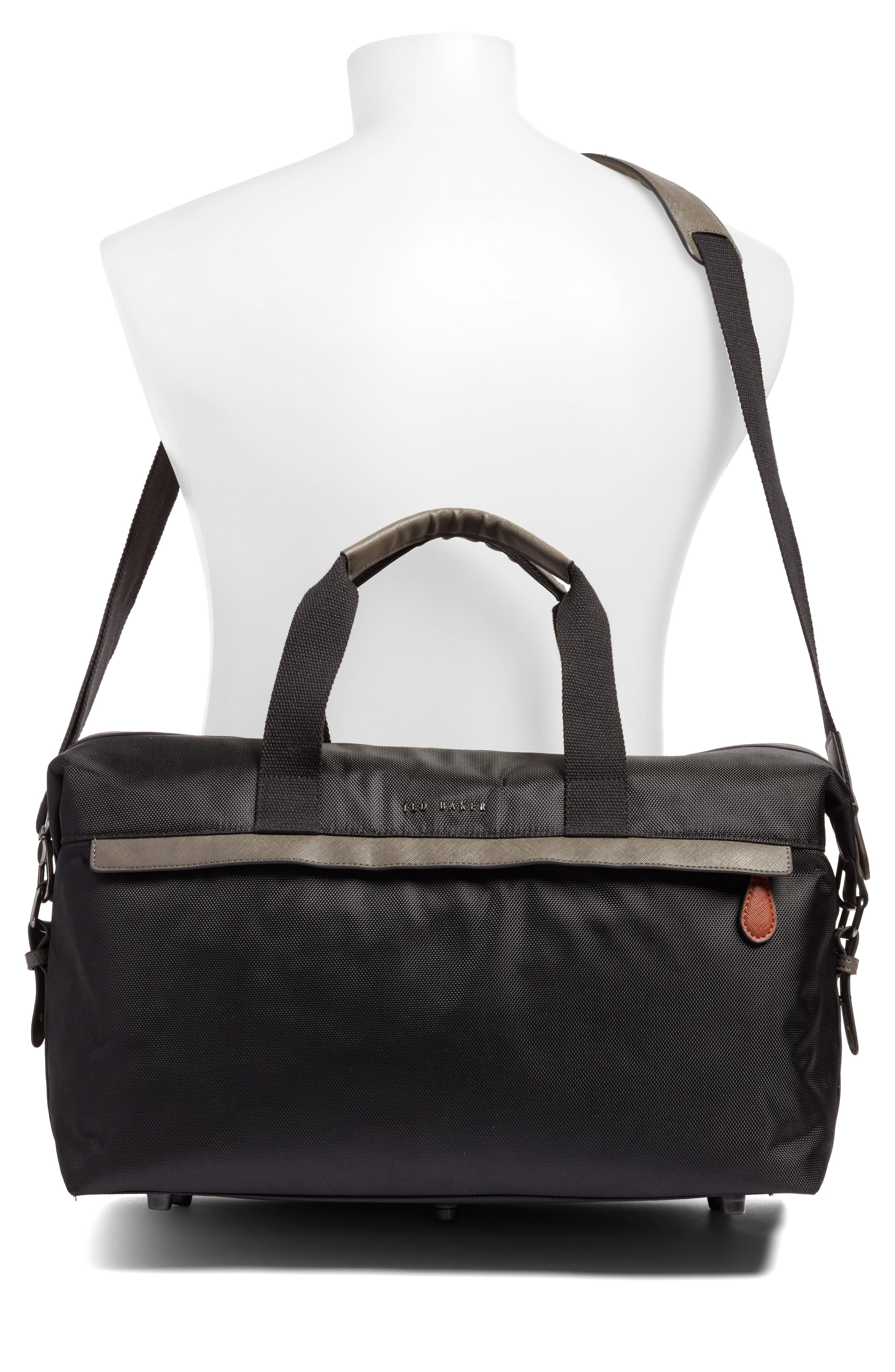 Zeebee Duffel Bag,                             Alternate thumbnail 2, color,                             Black