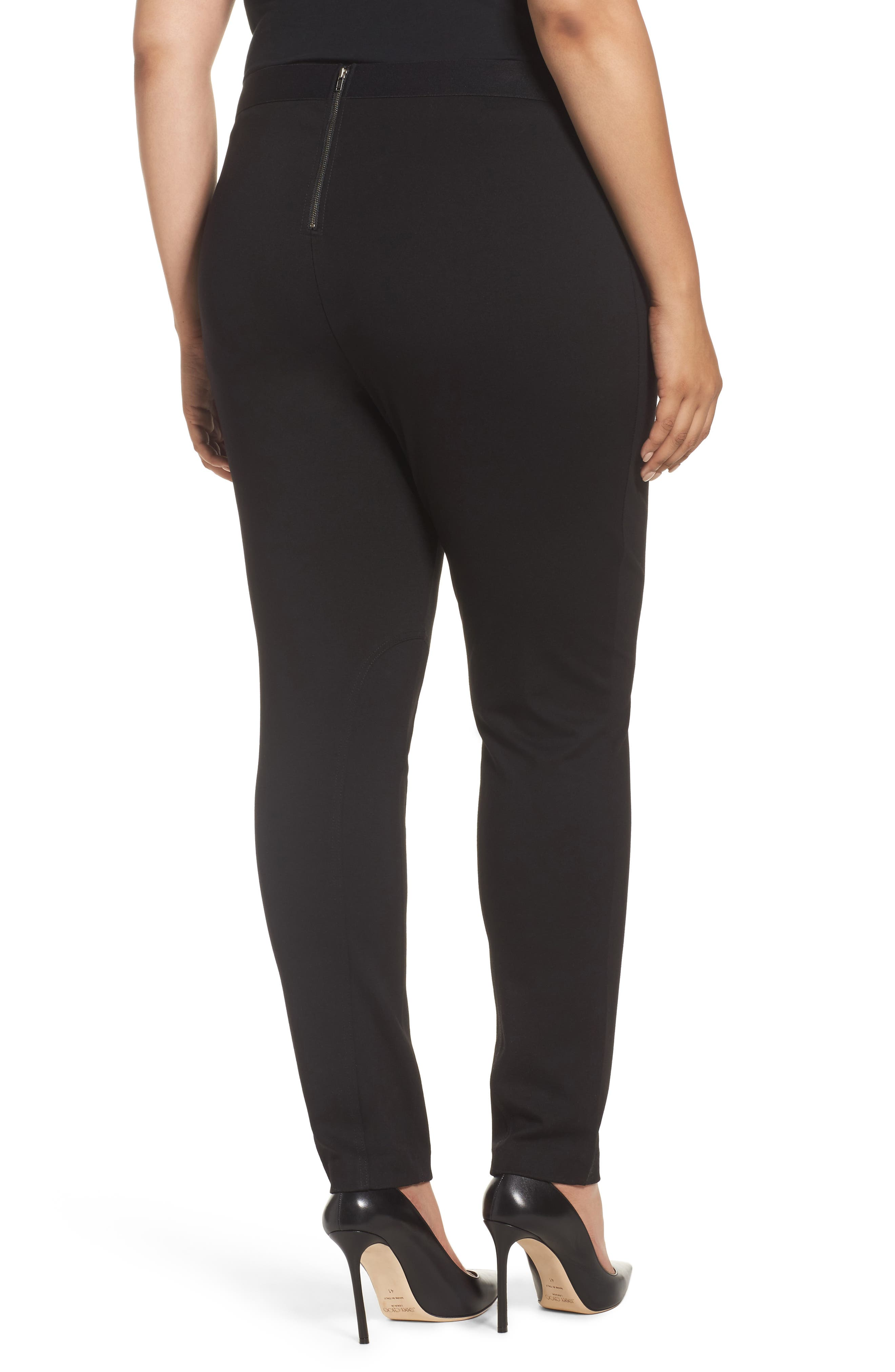 Alternate Image 2  - Foxcroft Naomi Ponte Jodphur Pants (Plus Size)