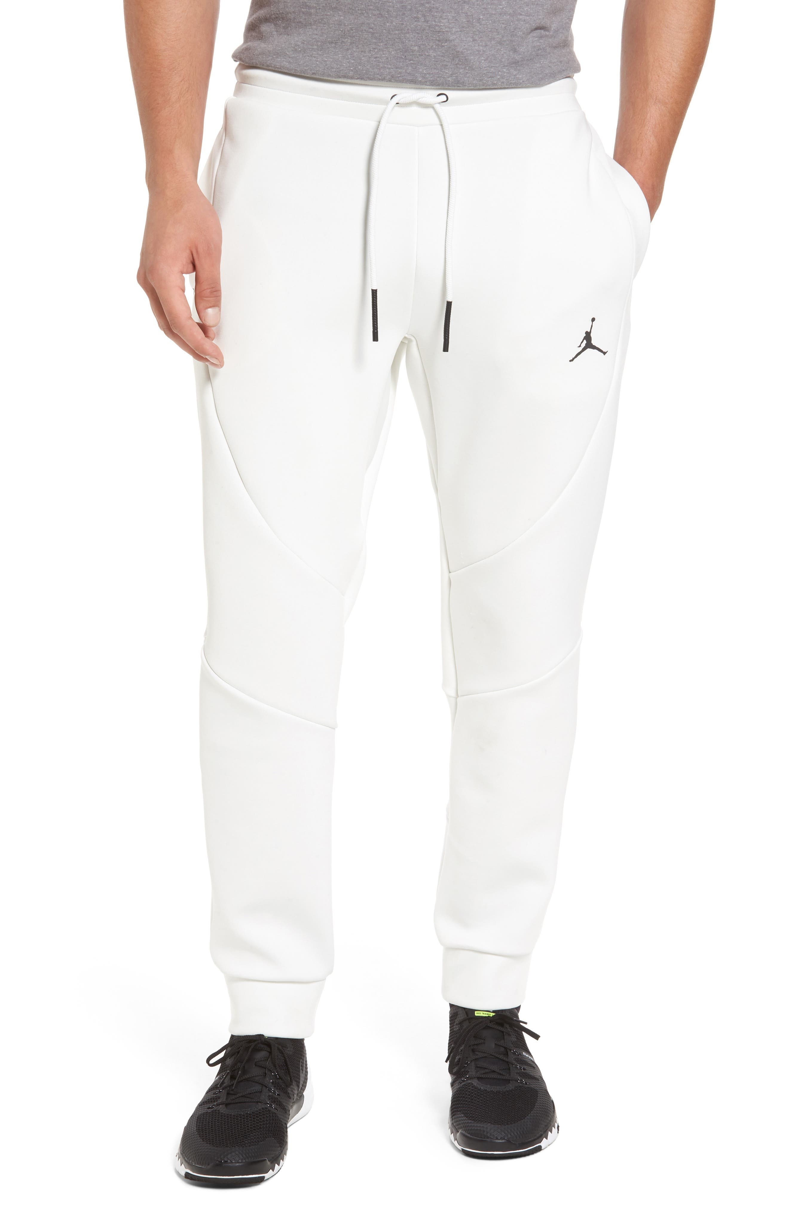 Sportswear Flight Tech Pants,                         Main,                         color, Summit White/ Black