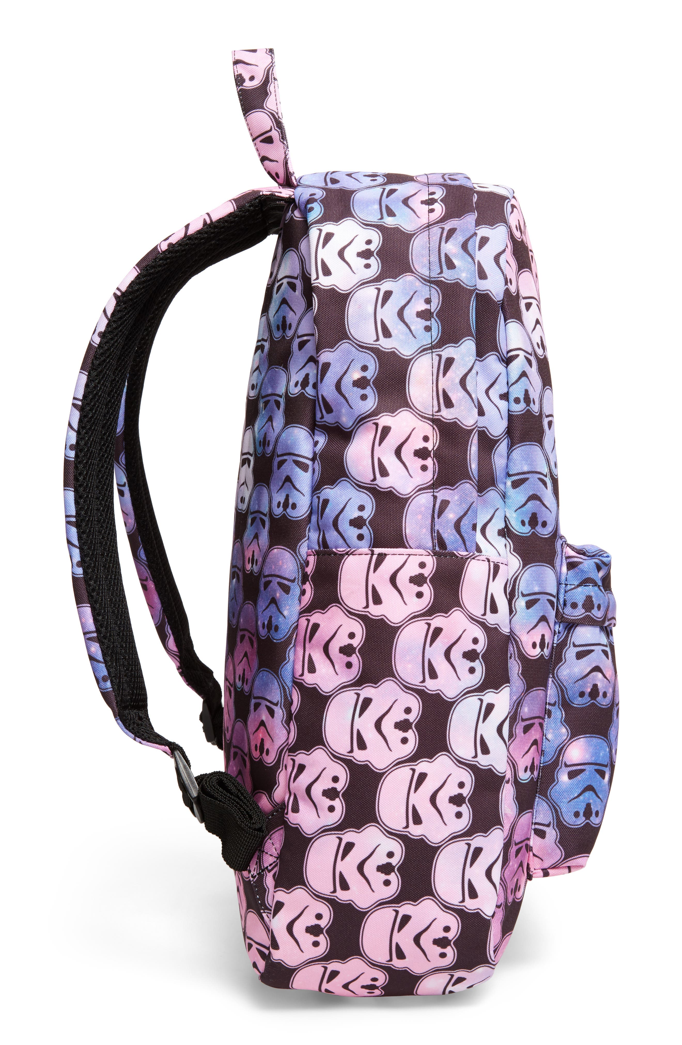 Star Wars<sup>™</sup> Stormtrooper Galaxy Backpack,                             Alternate thumbnail 4, color,                             Multi Black
