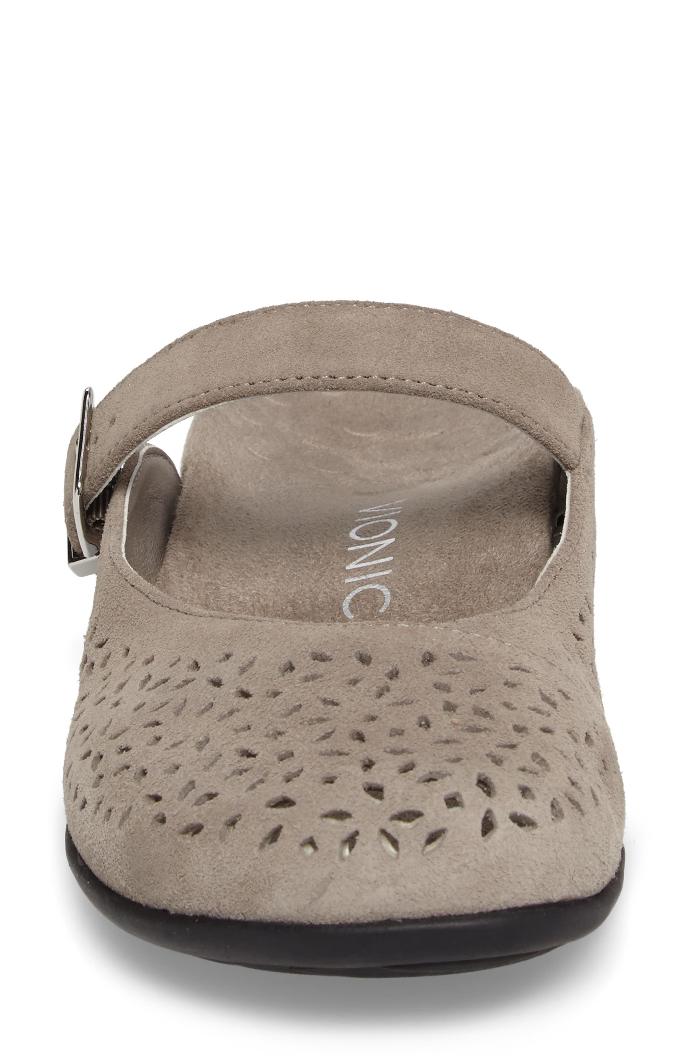 Rest Lidia Perforated Mary Jane Mule,                             Alternate thumbnail 4, color,                             Grey Suede