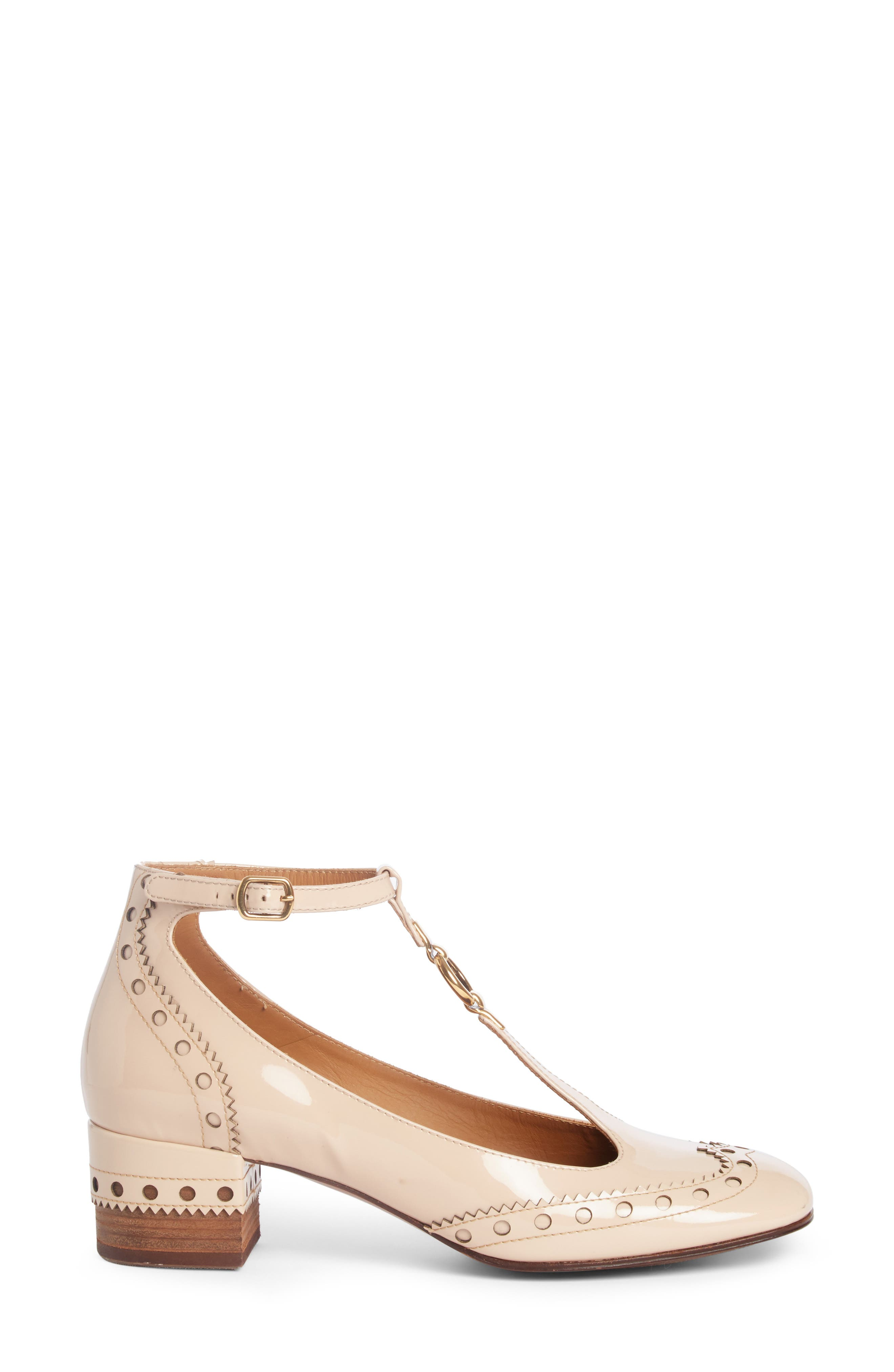Alternate Image 4  - Chloé Perry Wingtip T-Strap Pump (Women)