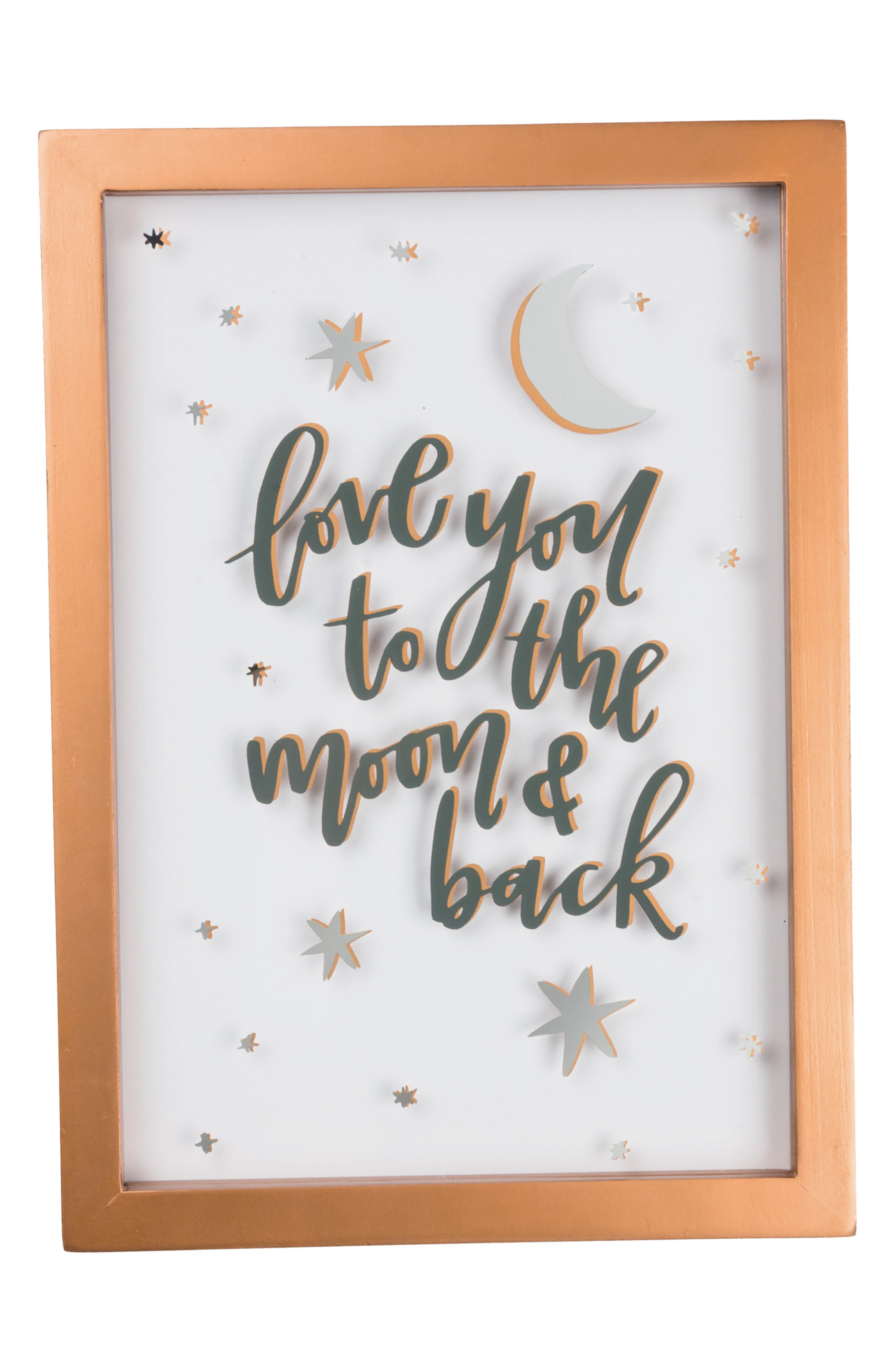 Primitives by Kathy Love You to the Moon & Back Glass Panel Sign