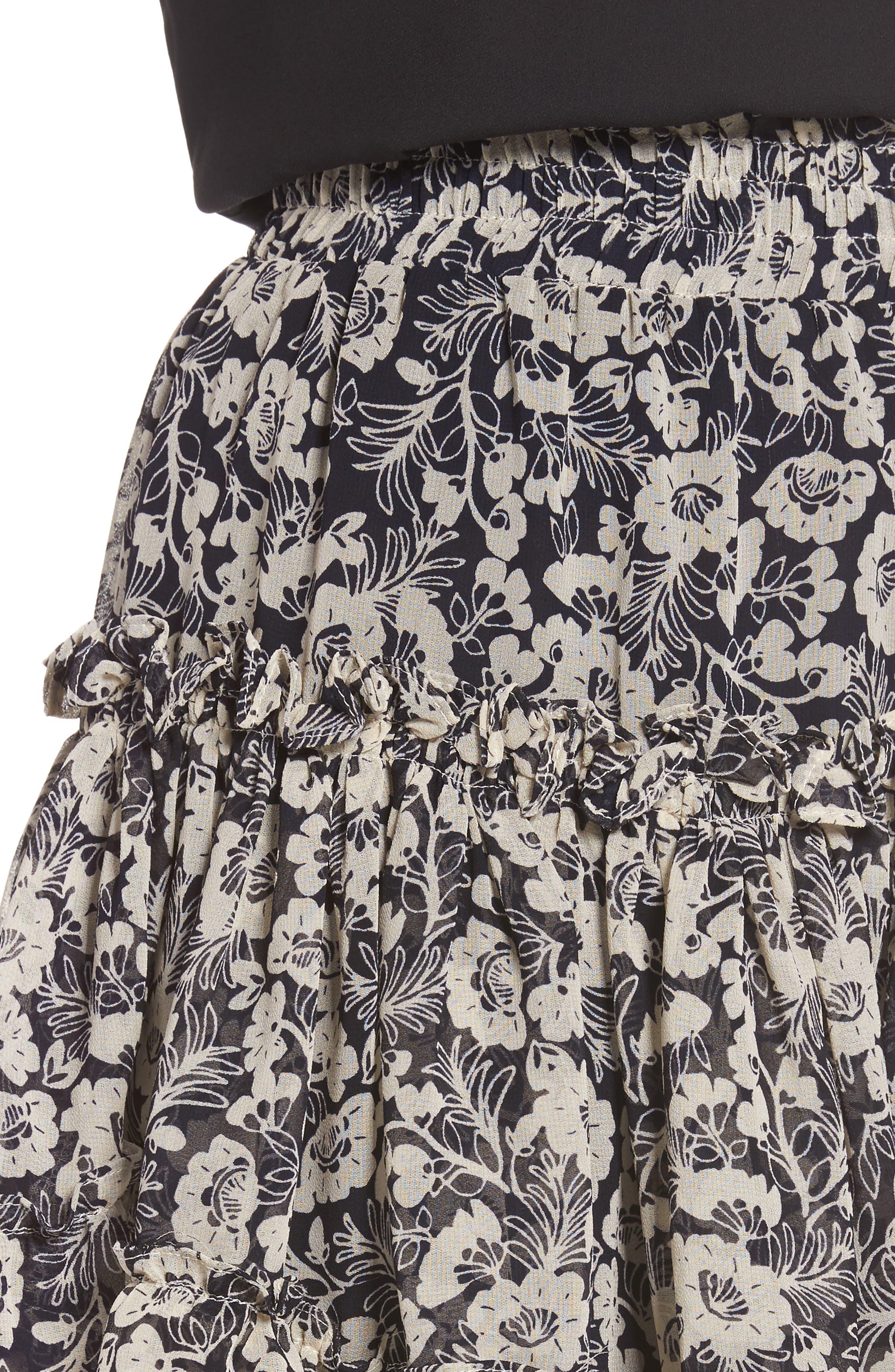 Alternate Image 4  - MISA Los Angeles Marion Floral Print Miniskirt