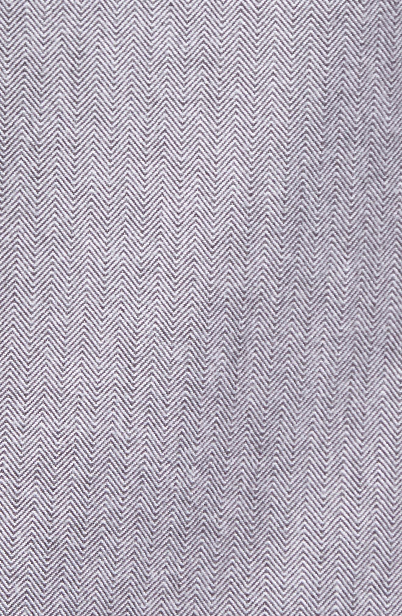 Lybek Regular Fit Herringbone Flannel Shirt,                             Alternate thumbnail 5, color,                             Gravel