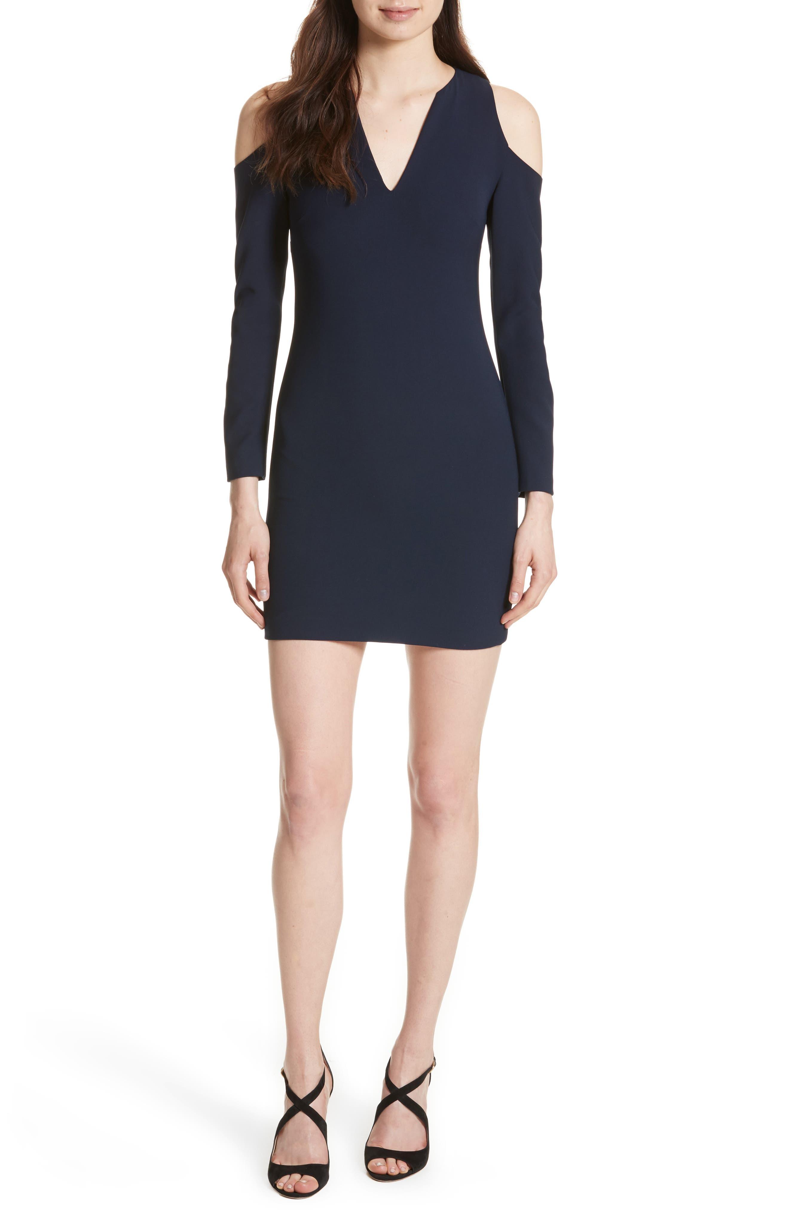 Niko Cold Shoulder Dress,                             Main thumbnail 1, color,                             Sapphire