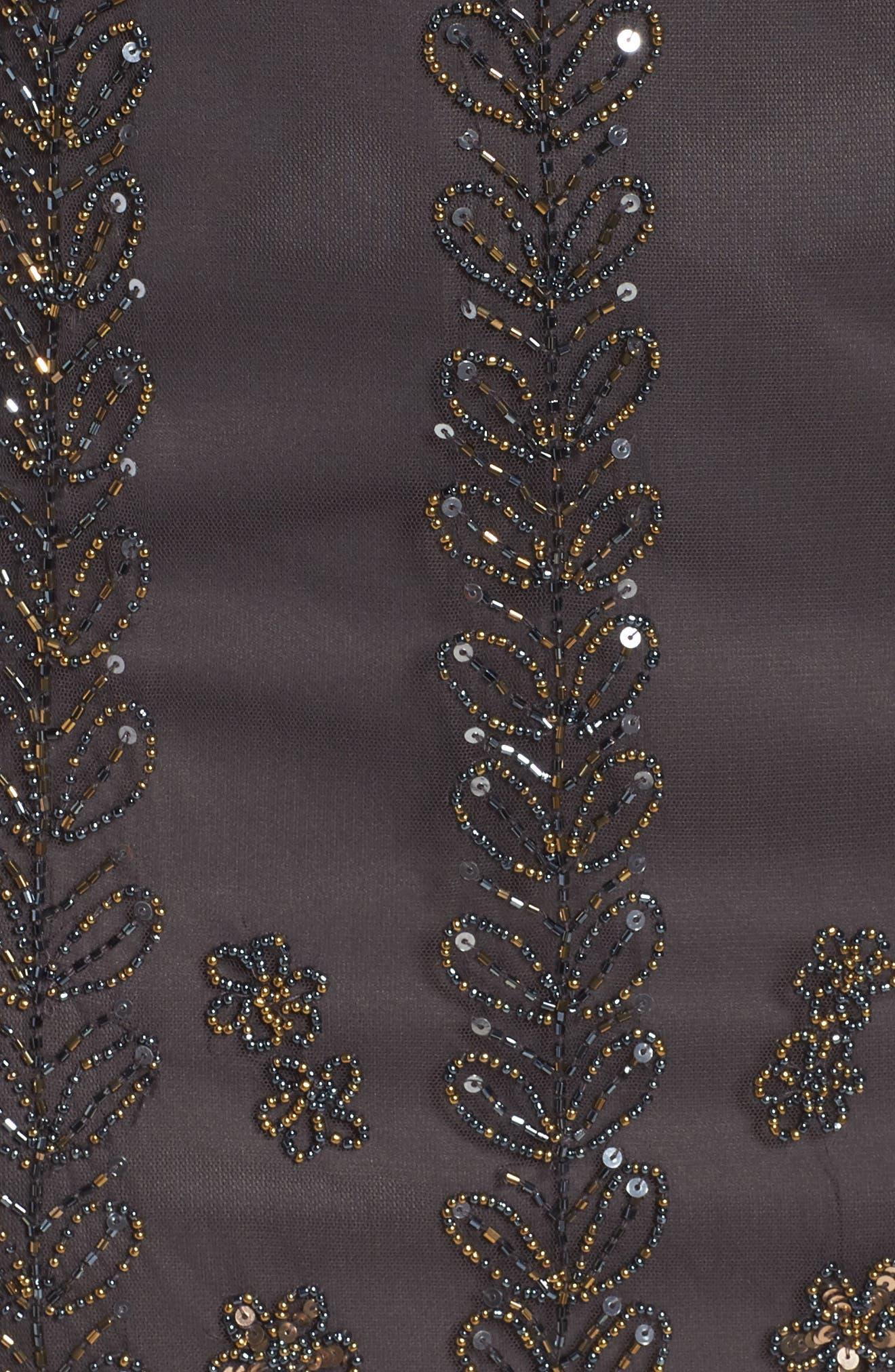 Alternate Image 5  - Pisarro Nights Embellished Popover Bodice Sheath Dress (Plus Size)