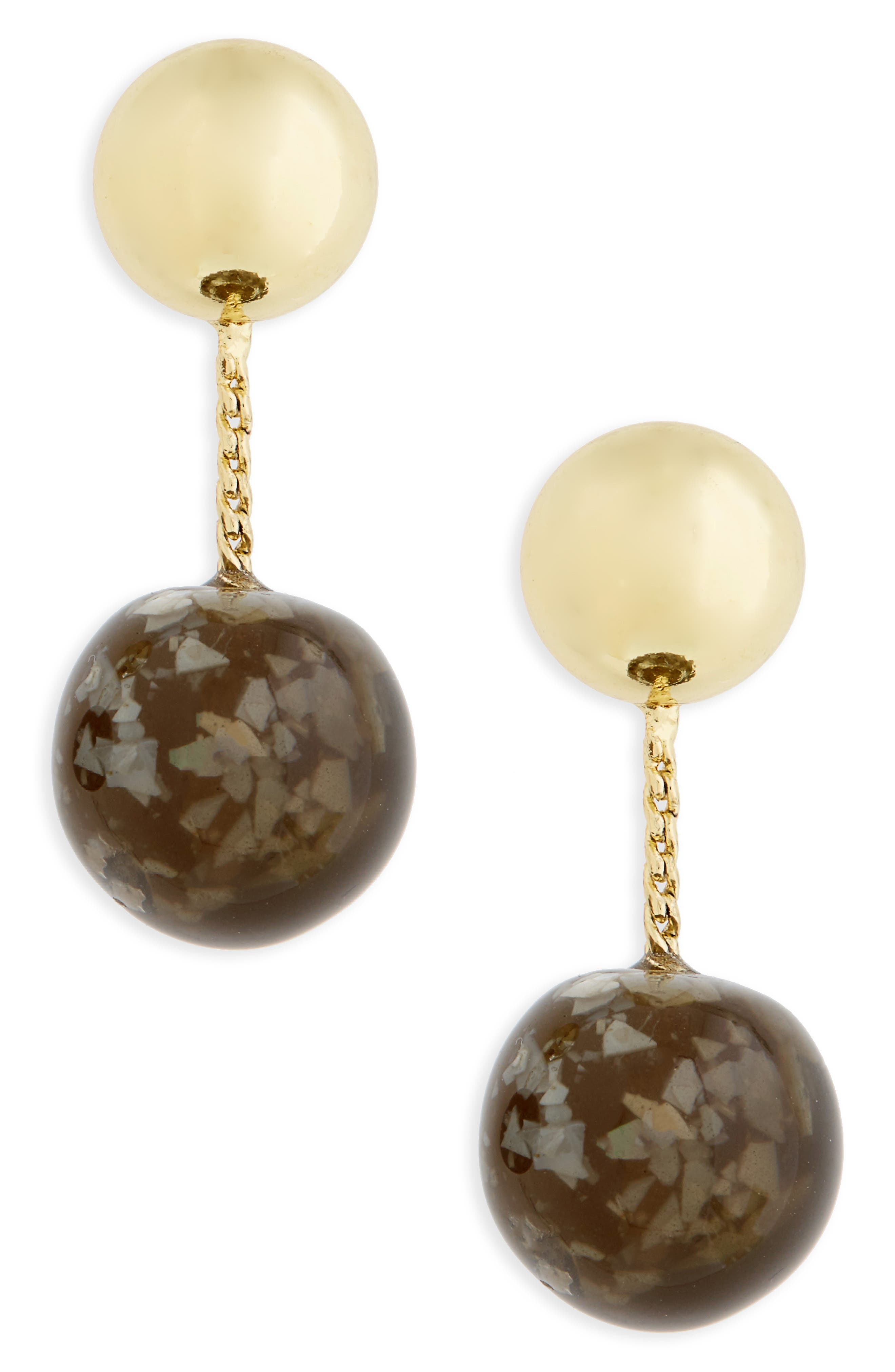 SHASHI Marbled Drop Earrings